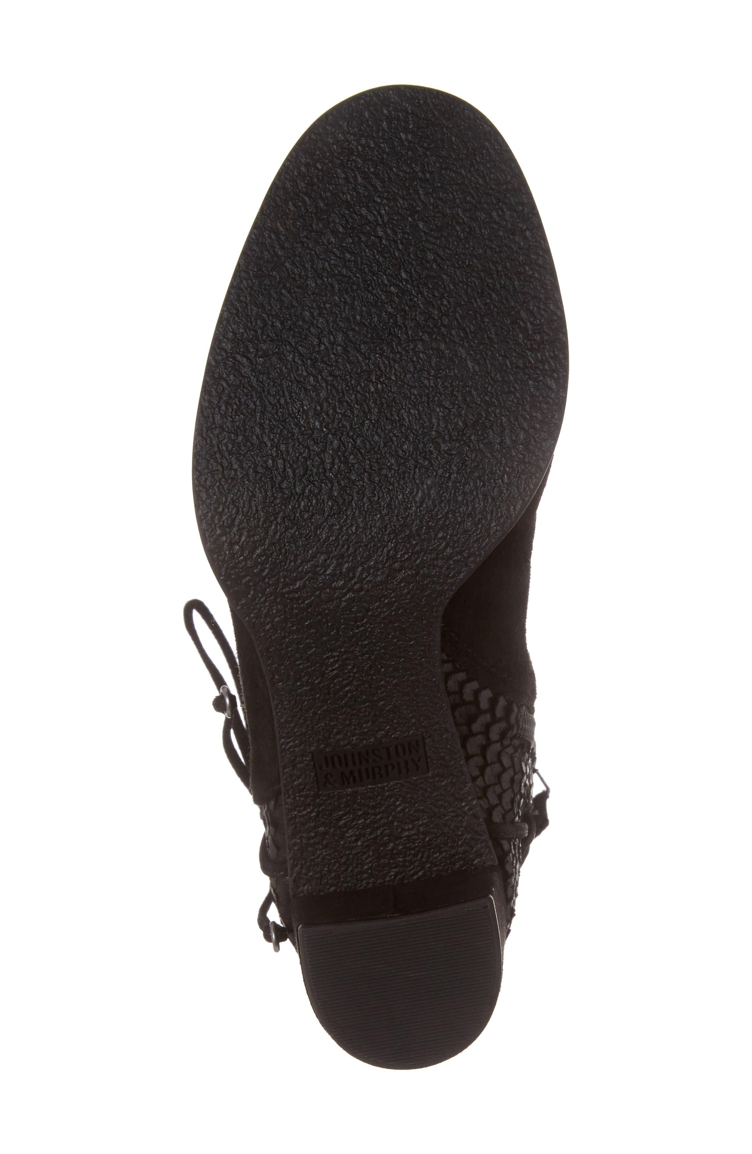 Adley Ankle Wrap Boot,                             Alternate thumbnail 6, color,                             001