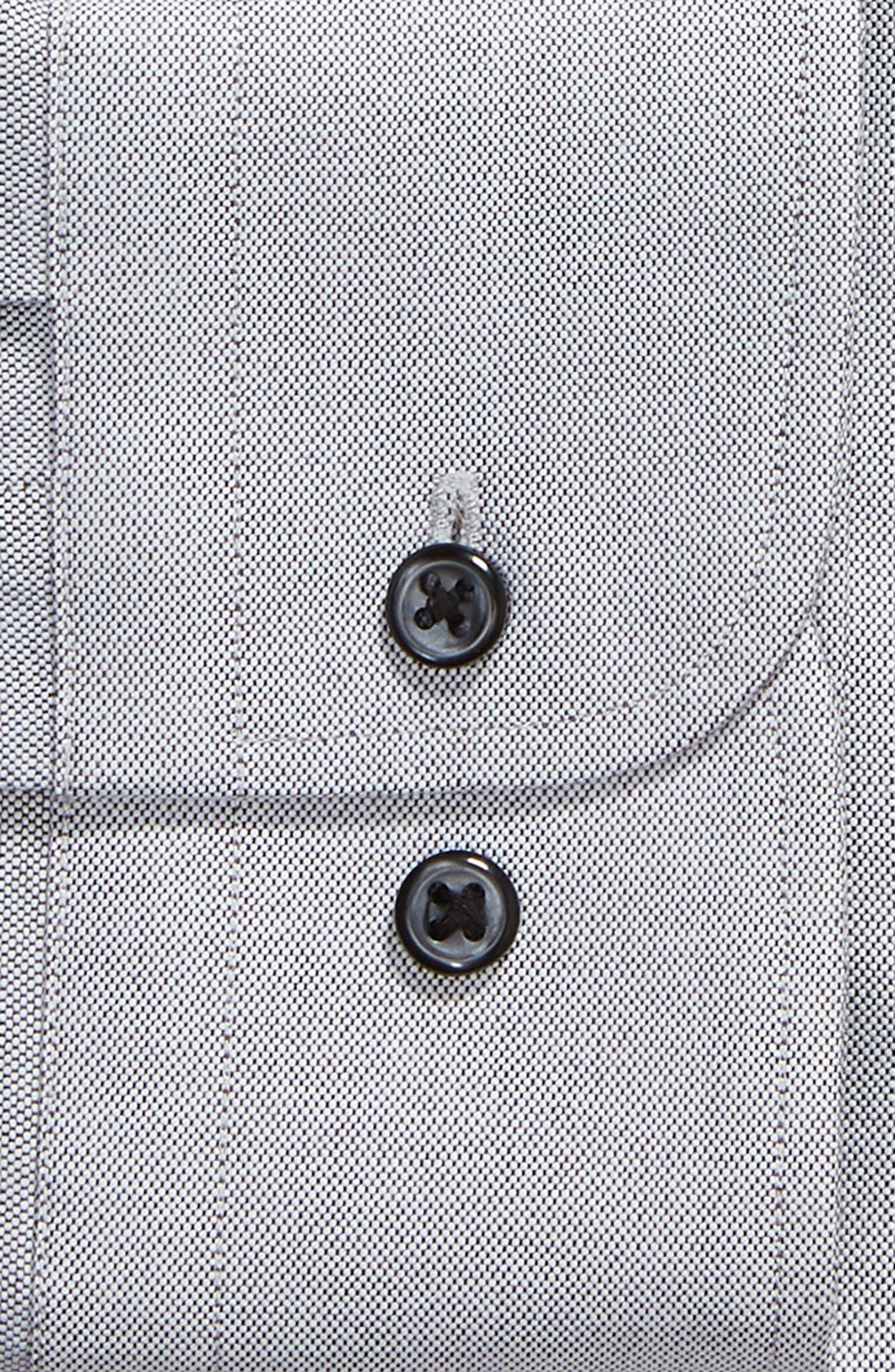Trim Fit Oxford Dress Shirt,                             Alternate thumbnail 6, color,                             GREY FEATHER