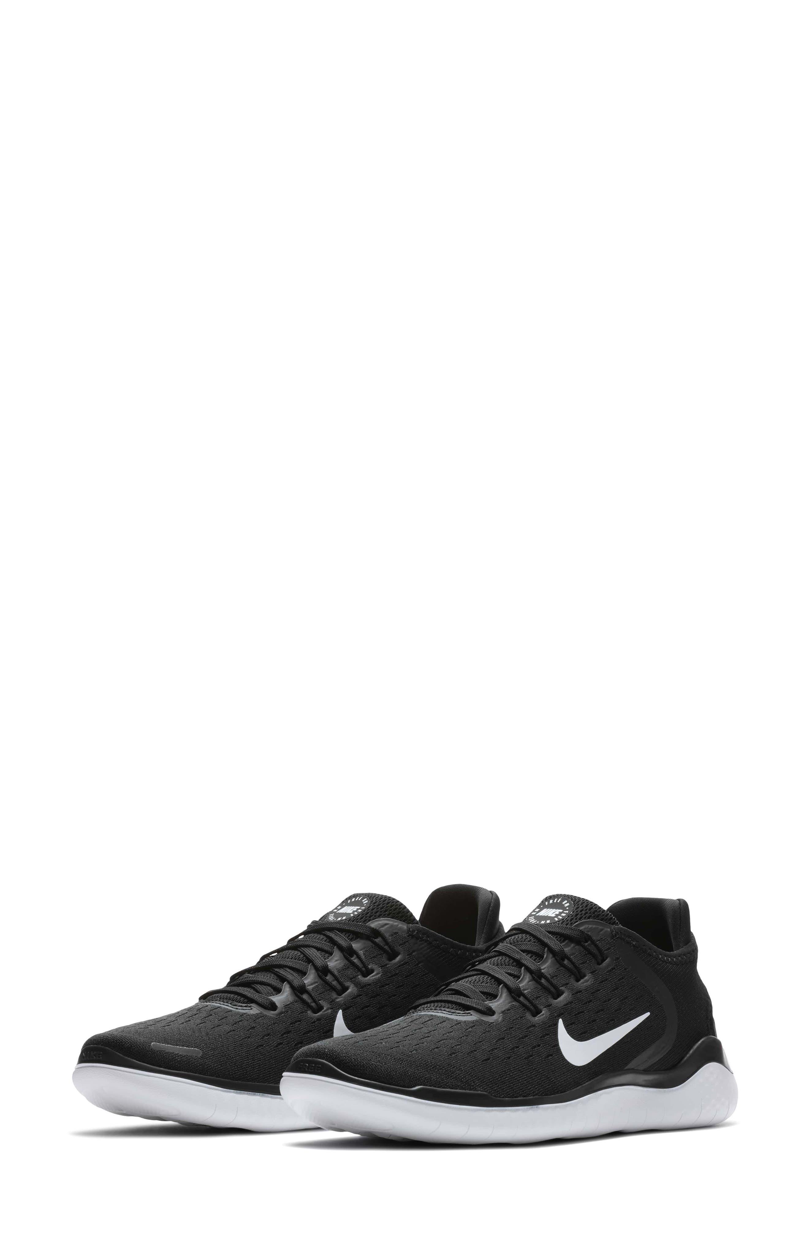 NIKE,                             Free RN 2018 Running Shoe,                             Main thumbnail 1, color,                             BLACK/ WHITE