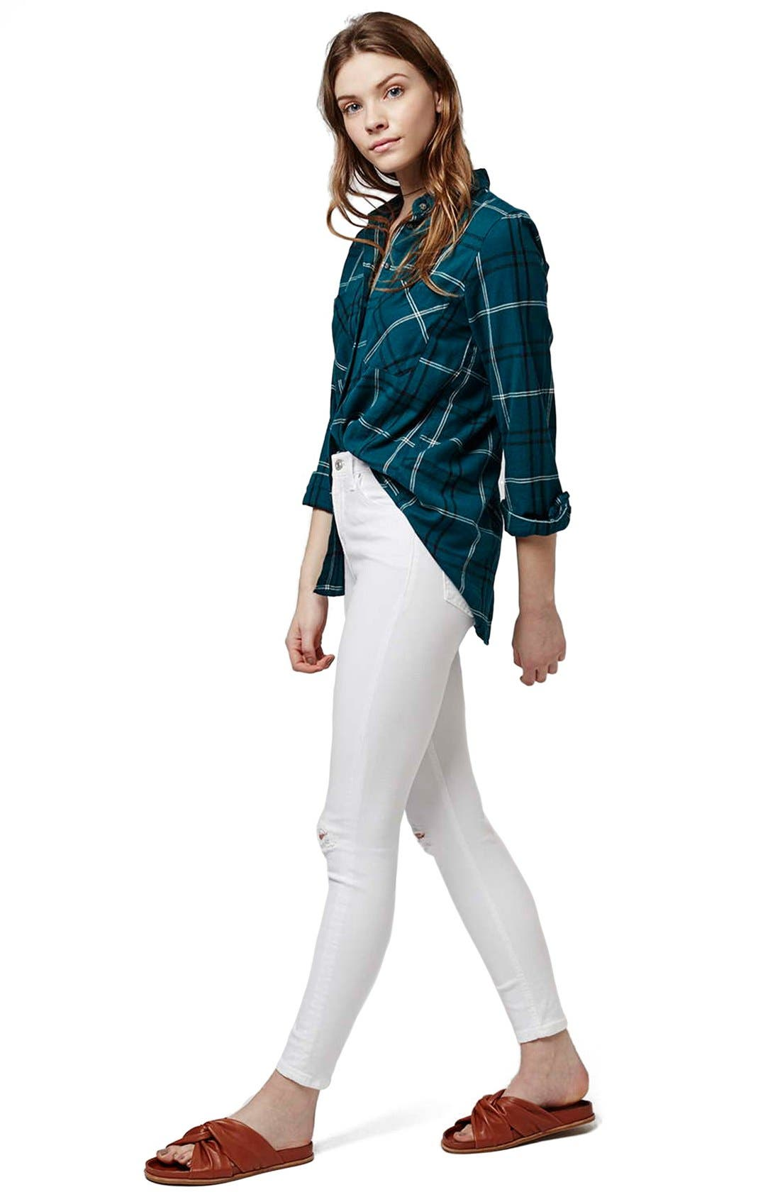 'Jamie - Super Ripped' High Waist Skinny Jeans,                             Alternate thumbnail 2, color,
