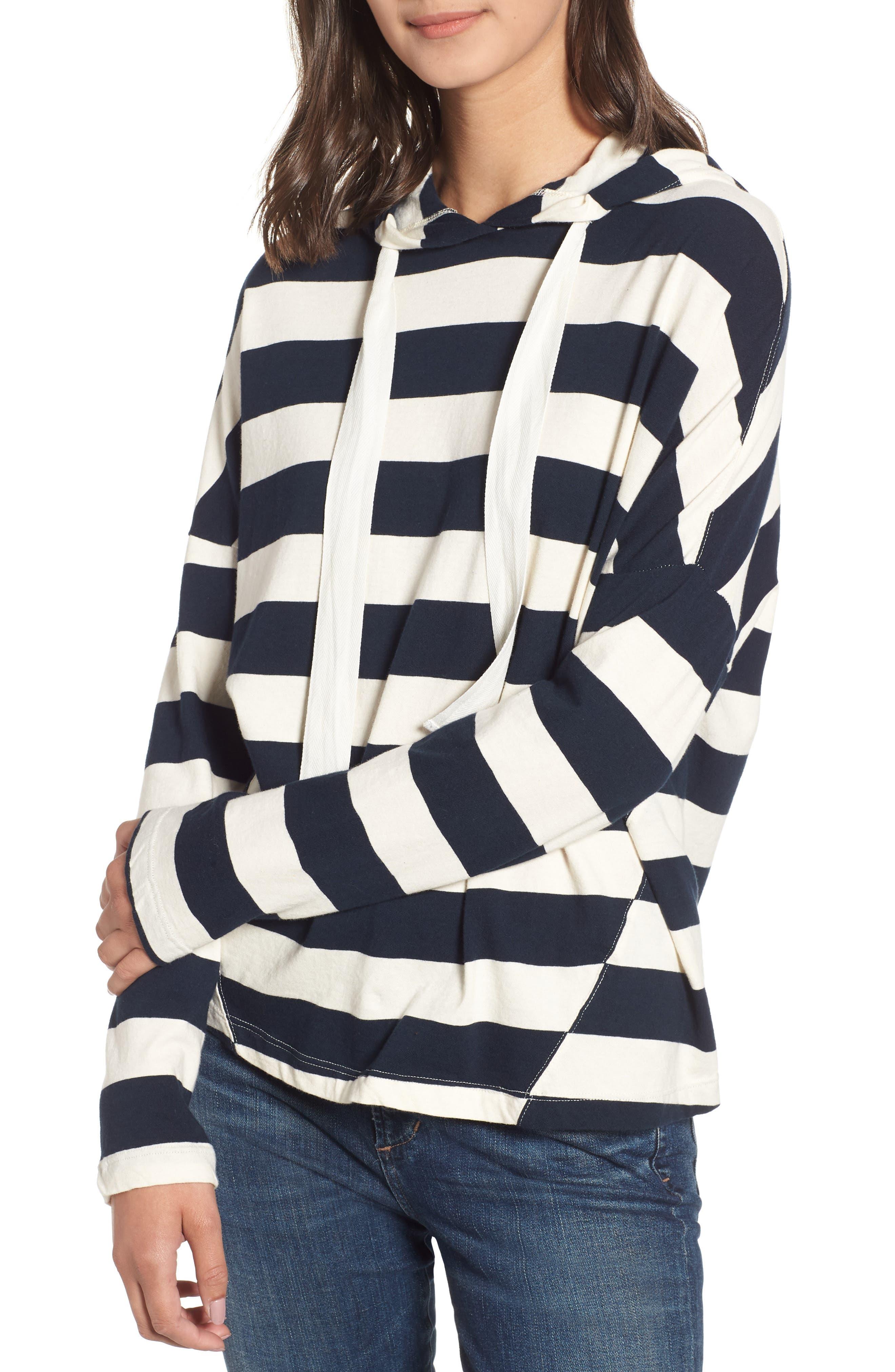 Stripe Hoodie,                         Main,                         color, CREAM