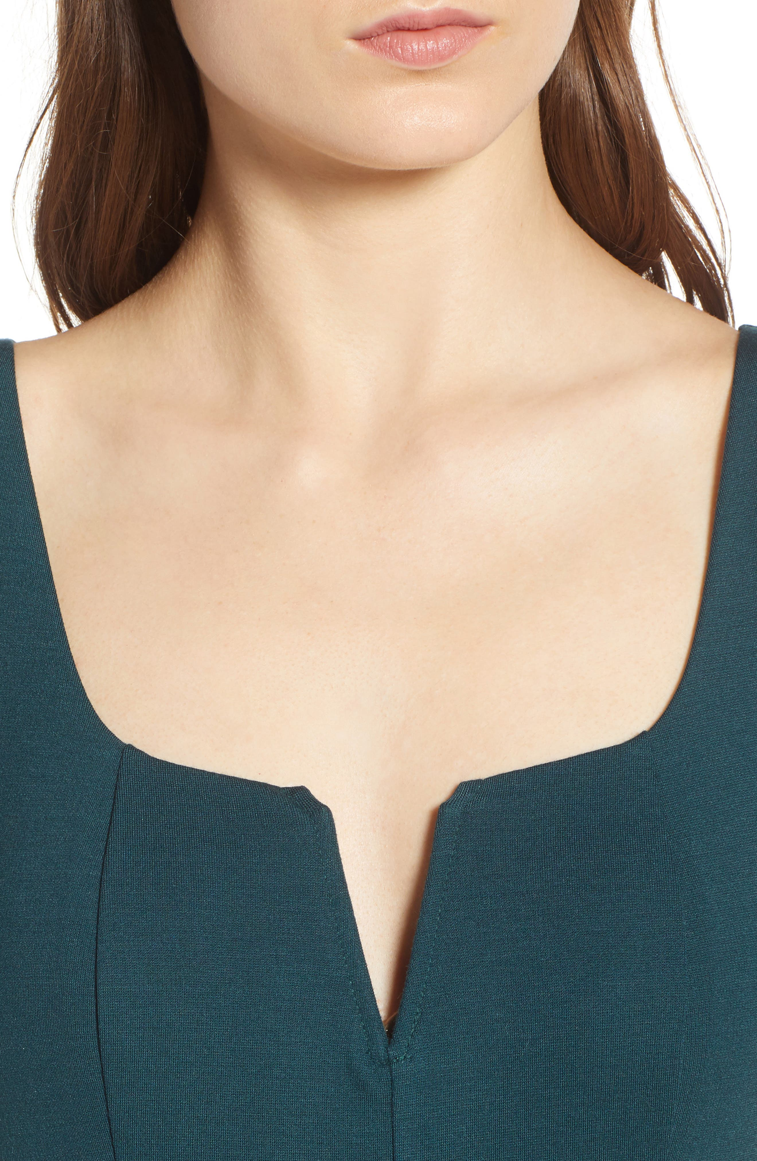Body-Con Dress,                             Alternate thumbnail 4, color,                             GREEN BUG