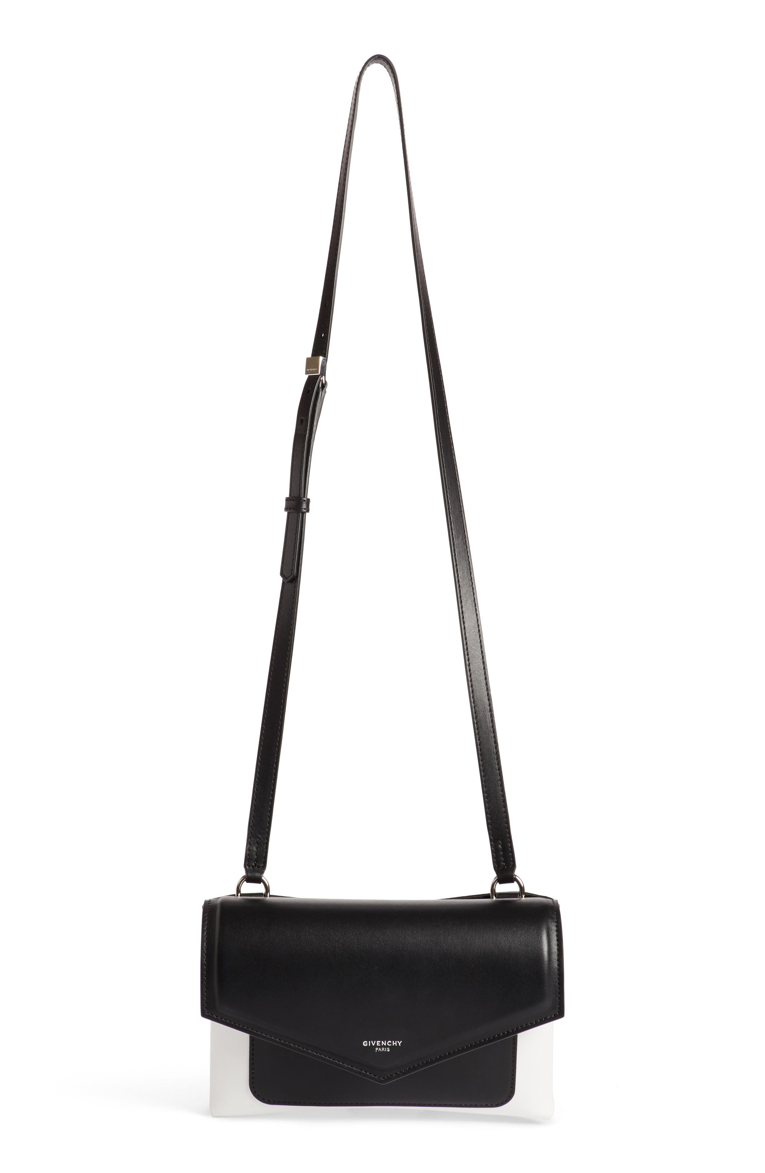 Duetto Bicolor Leather Flap Crossbody Bag,                         Main,                         color, 004