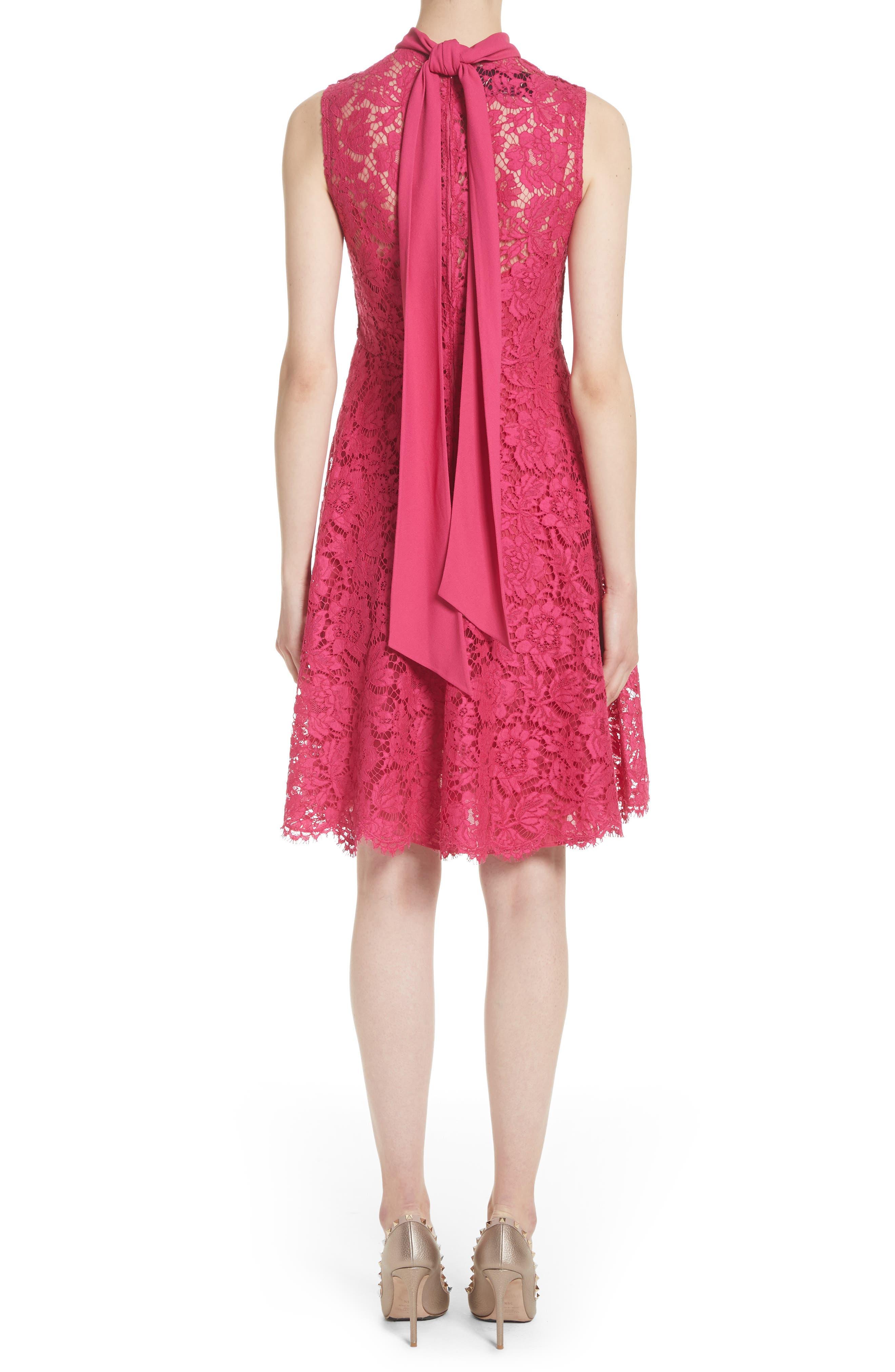 Tie Neck Guipure Lace Dress,                             Alternate thumbnail 2, color,                             650