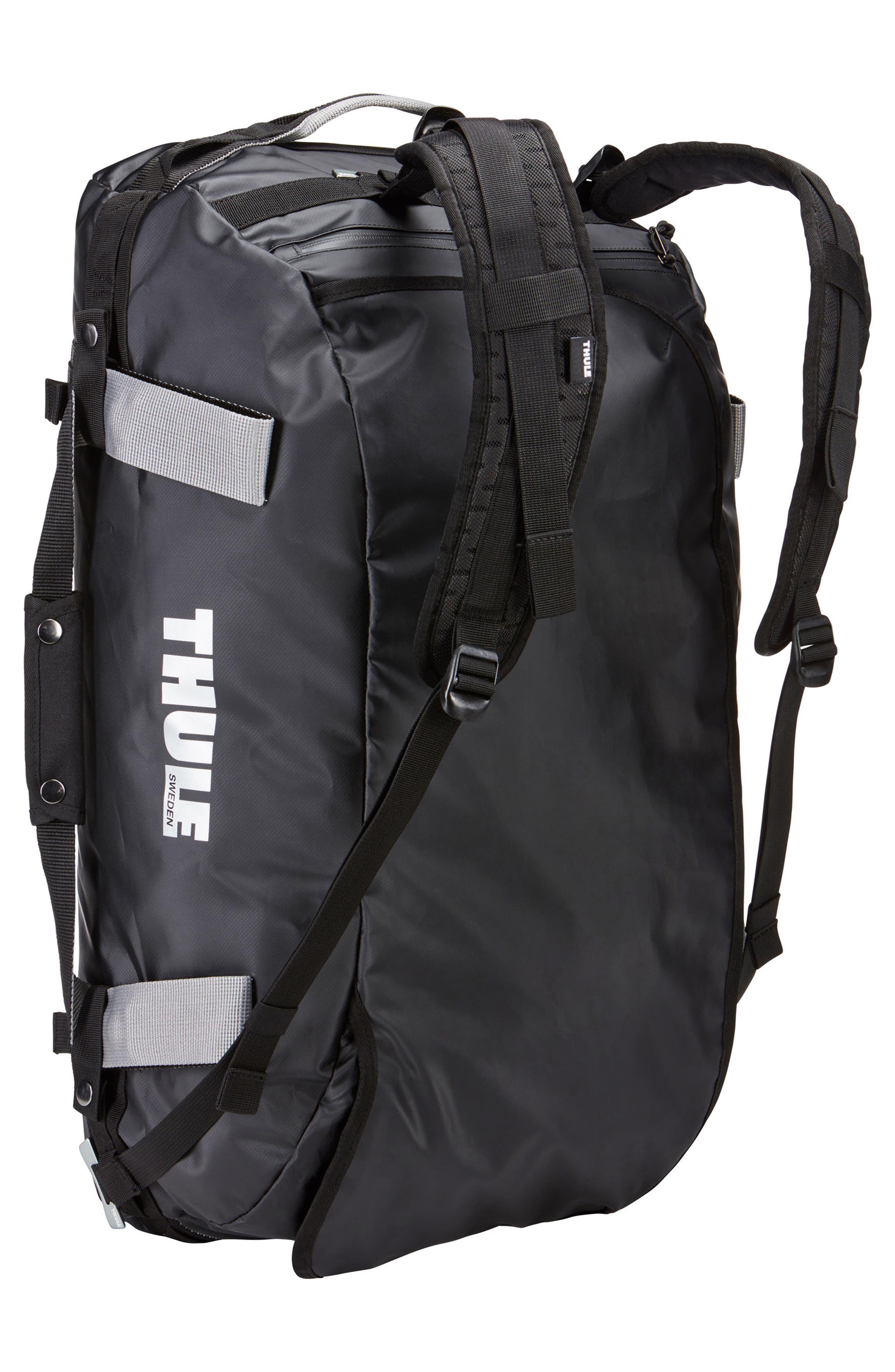Chasm 130-Liter Convertible Duffel Bag,                             Alternate thumbnail 3, color,                             BLACK