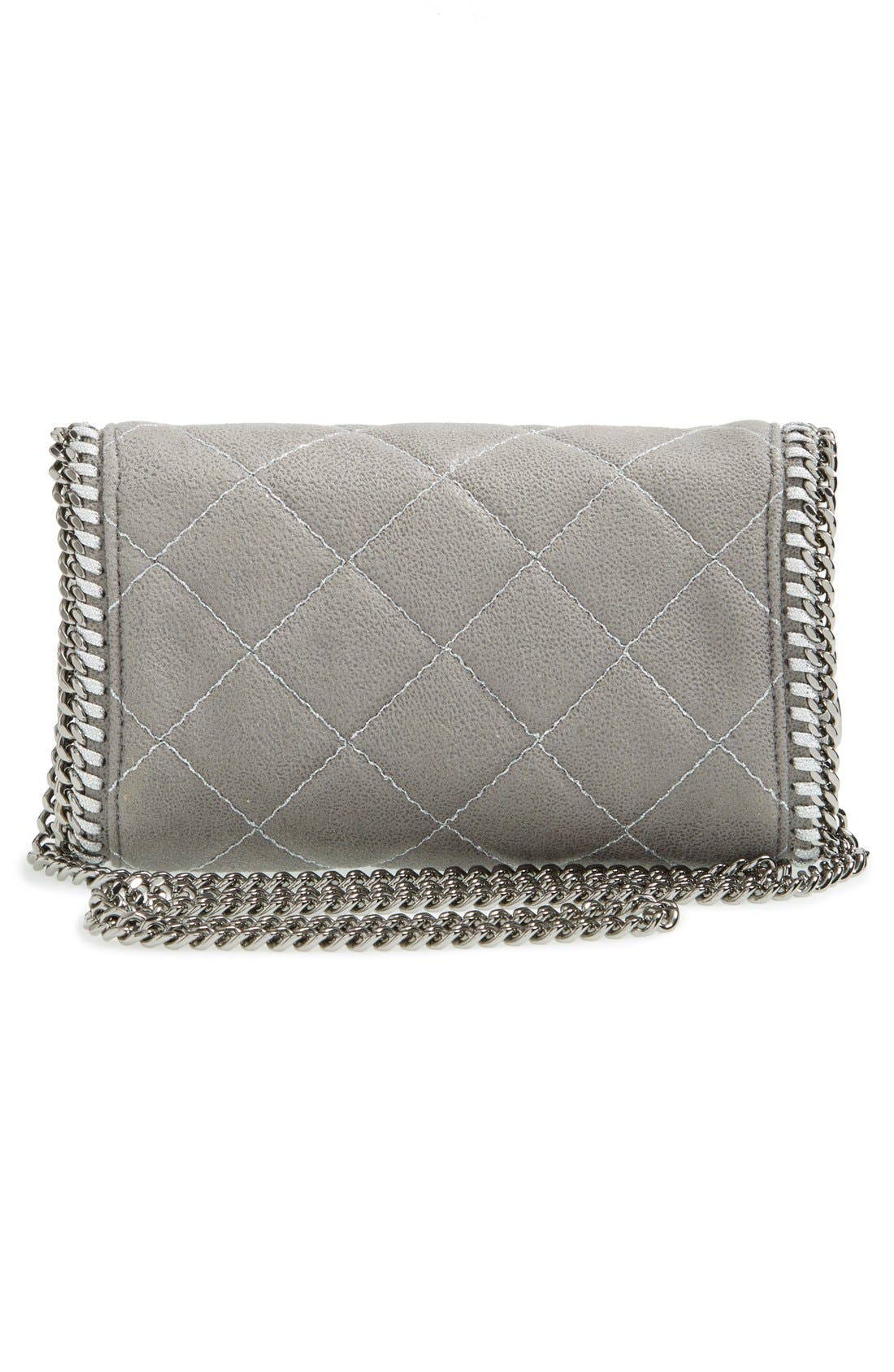 'Falabella' Quilted Faux Leather Crossbody Bag,                             Alternate thumbnail 15, color,