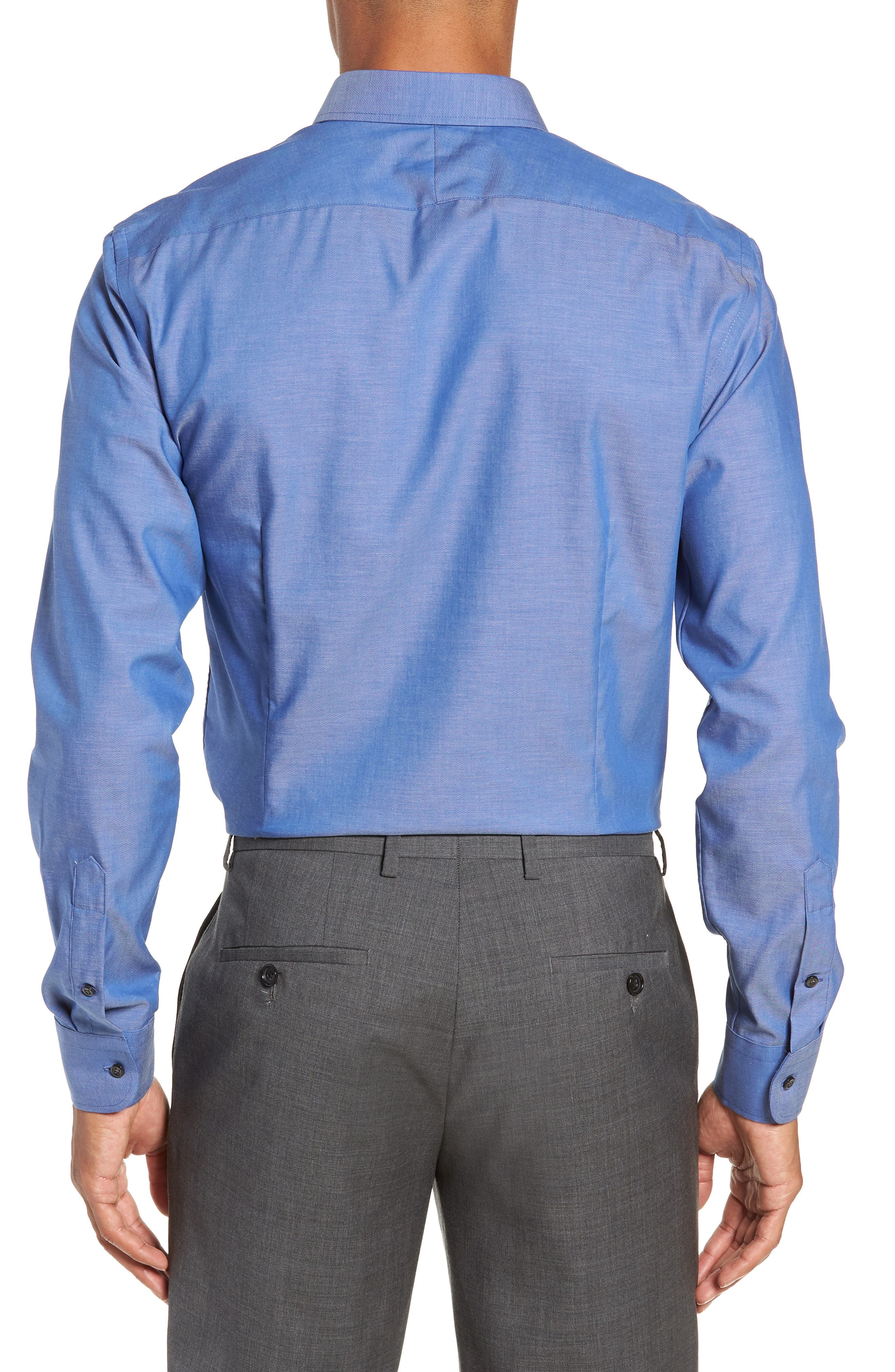 Extra Trim Fit Non-Iron Dress Shirt,                             Alternate thumbnail 3, color,                             420