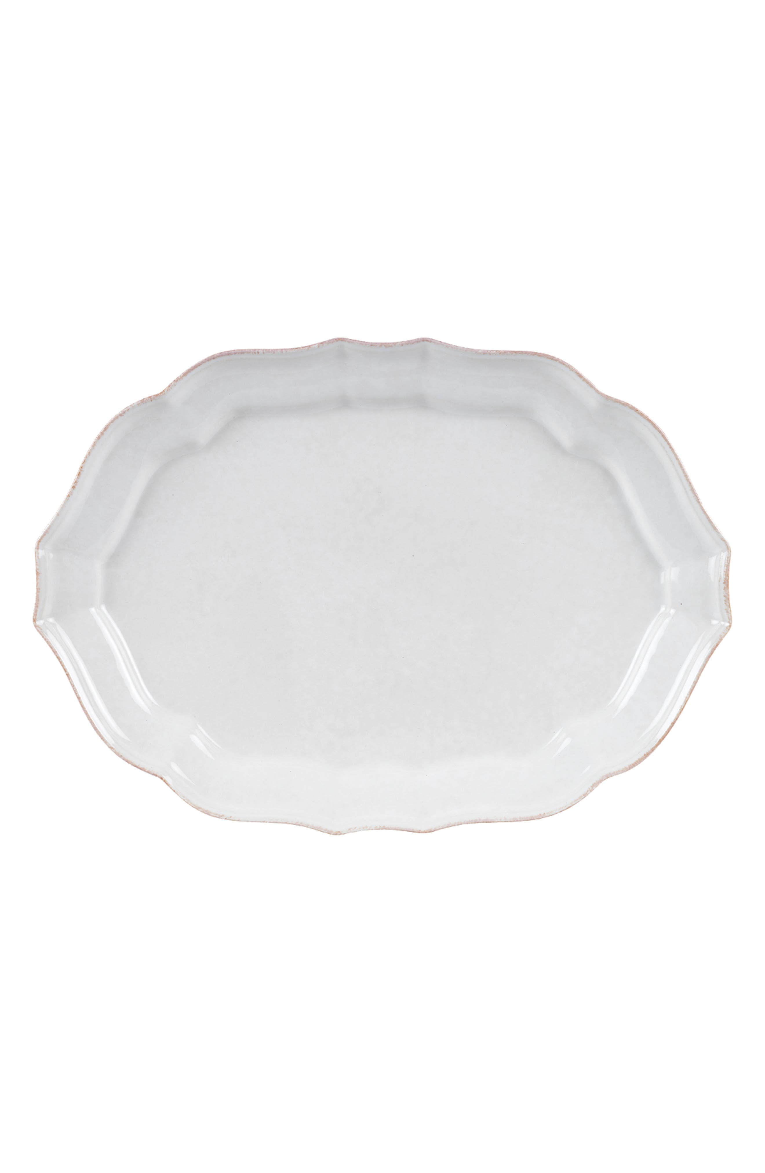 CASAFINA Impressions Large Oval Platter, Main, color, WHITE
