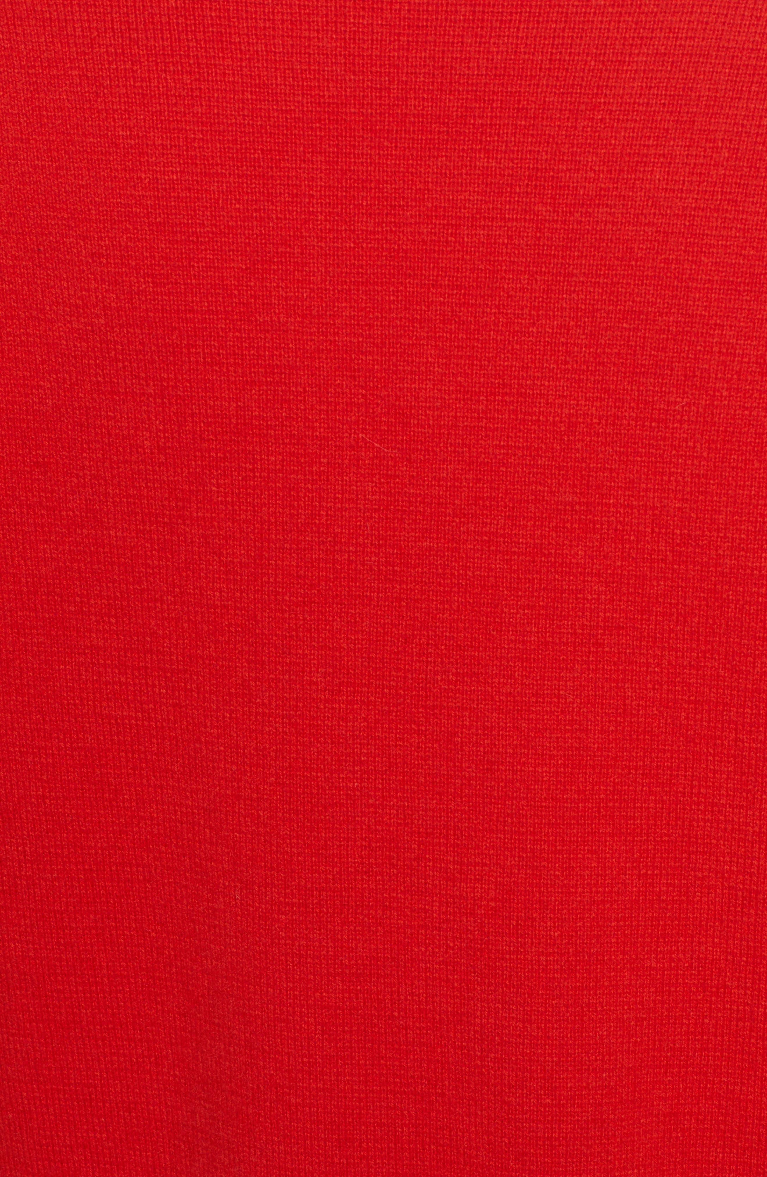 PSWL Stripe Sleeve Merino Wool & Cashmere Cardigan,                             Alternate thumbnail 5, color,                             RED COMBO