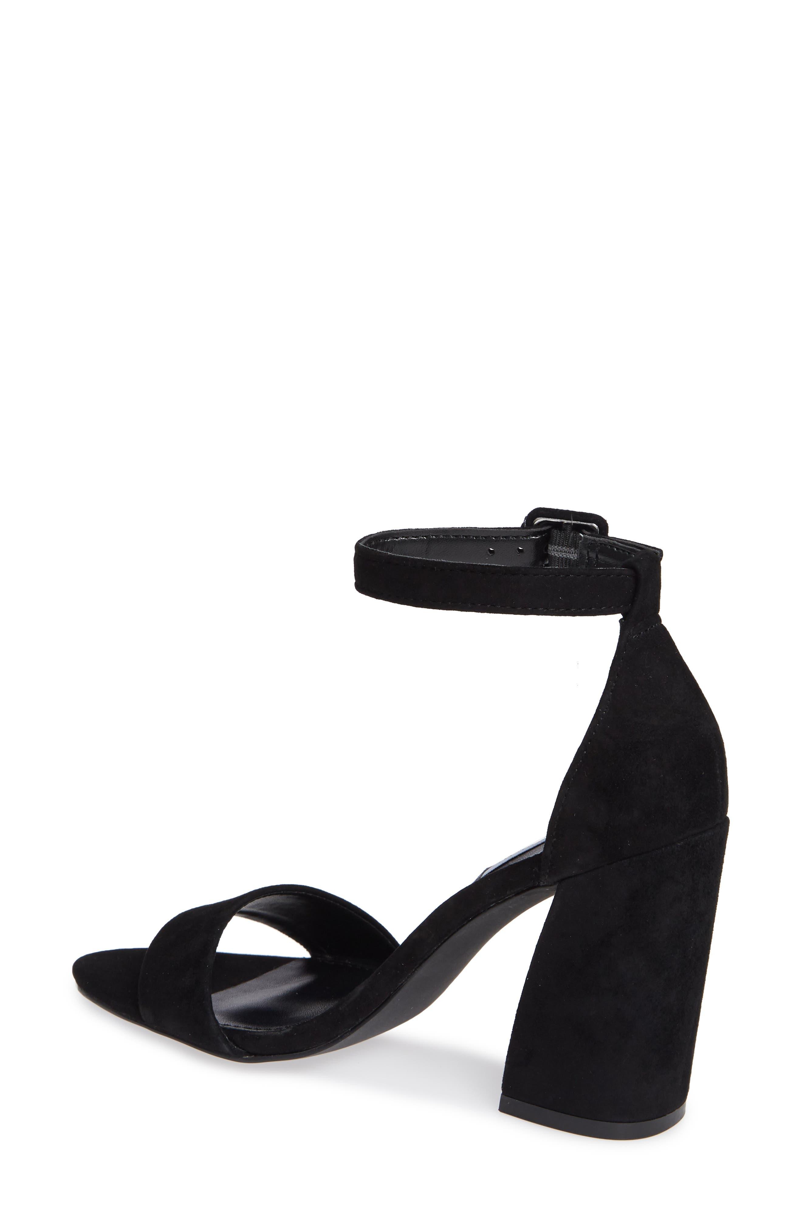 Joss Ankle Strap Sandal,                             Alternate thumbnail 2, color,                             BLACK SUEDE
