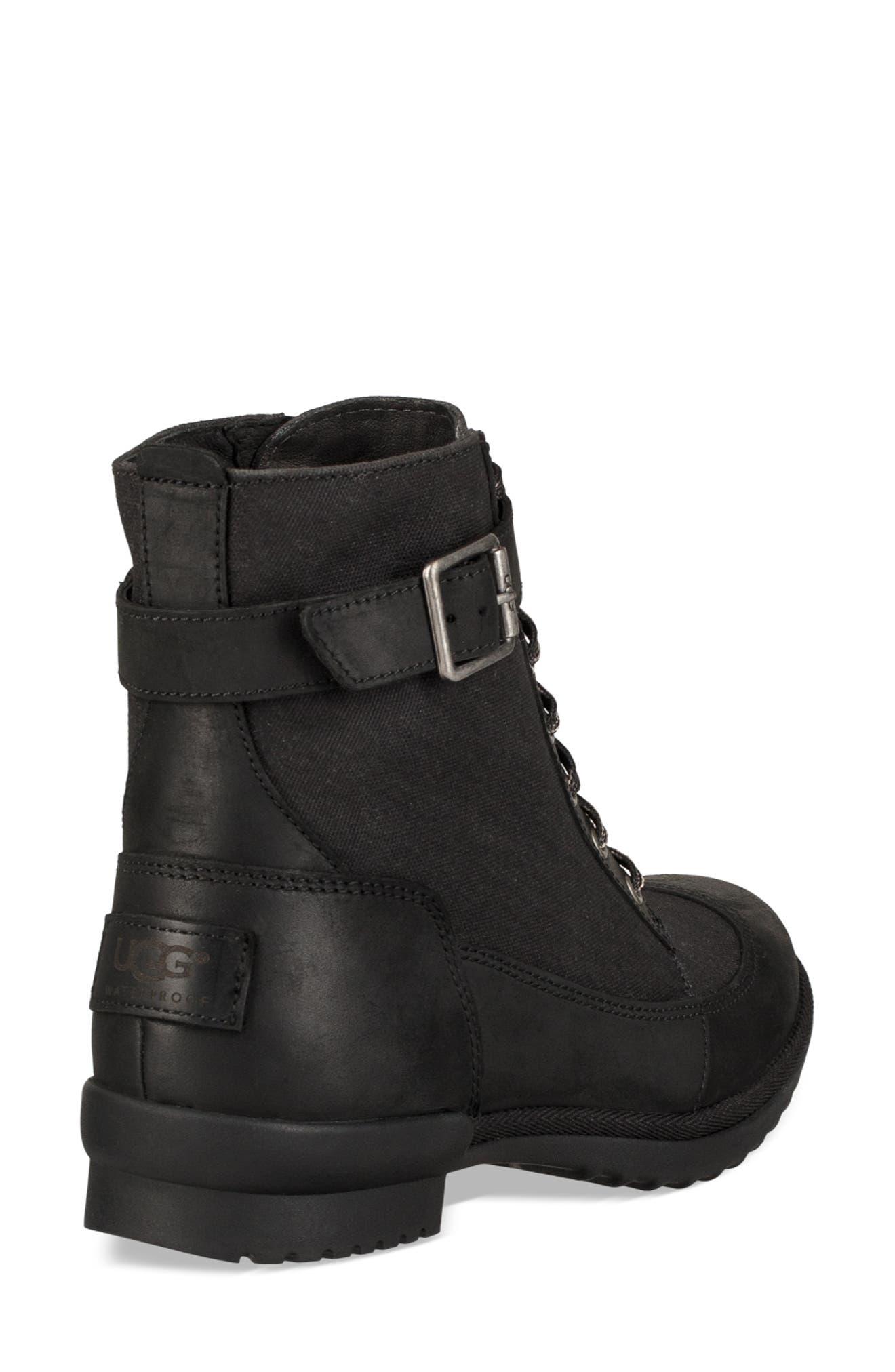 Tulane Waterproof Boot,                             Alternate thumbnail 2, color,                             BLACK LEATHER
