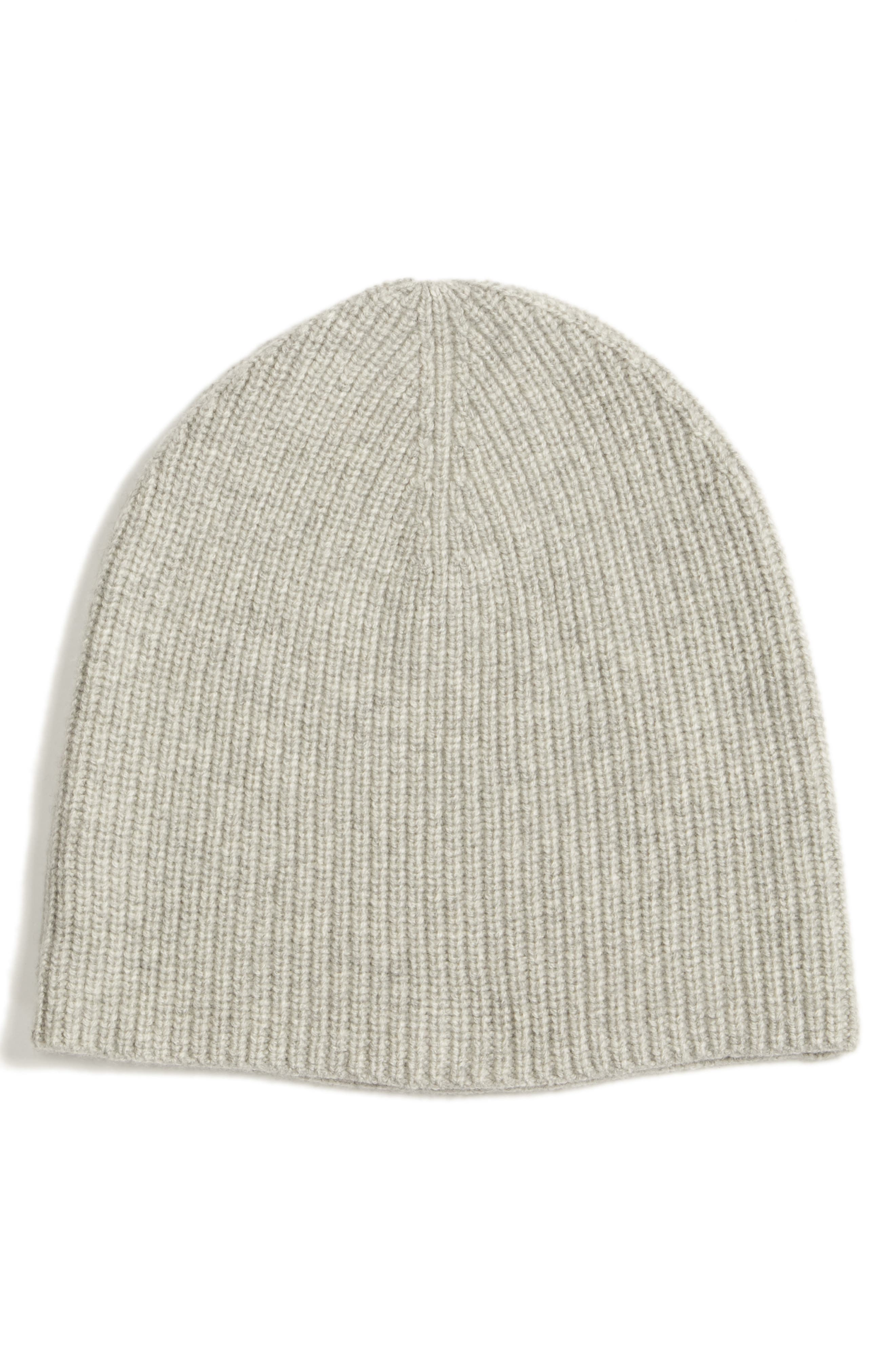 EILEEN FISHER Cashmere Blend Beanie, Main, color, 020