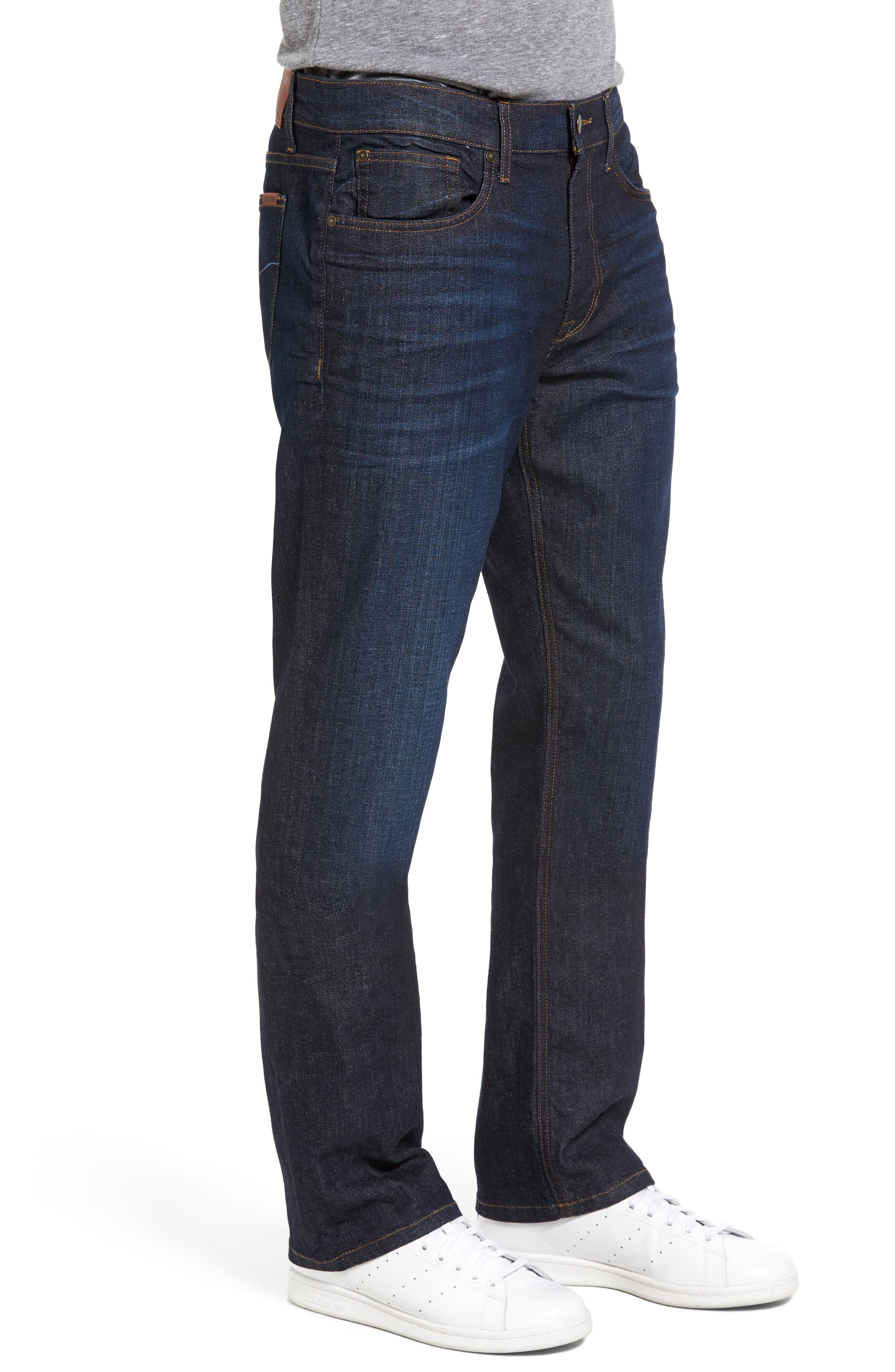 Classic Straight Fit Jeans,                             Alternate thumbnail 4, color,                             TIMOTHY