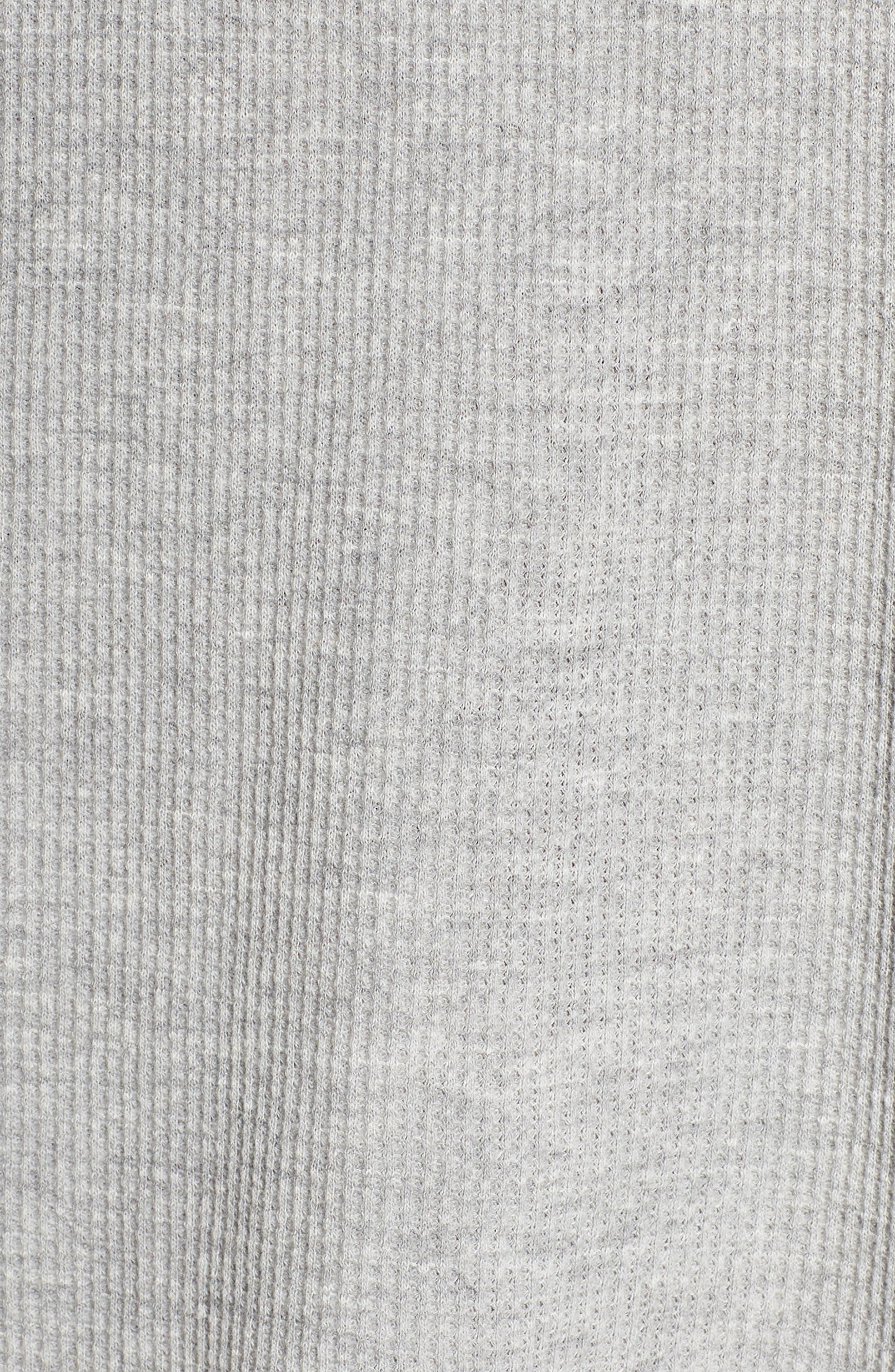 Elyse Lace-Up Waffle Knit Sleep Top,                             Alternate thumbnail 5, color,                             020