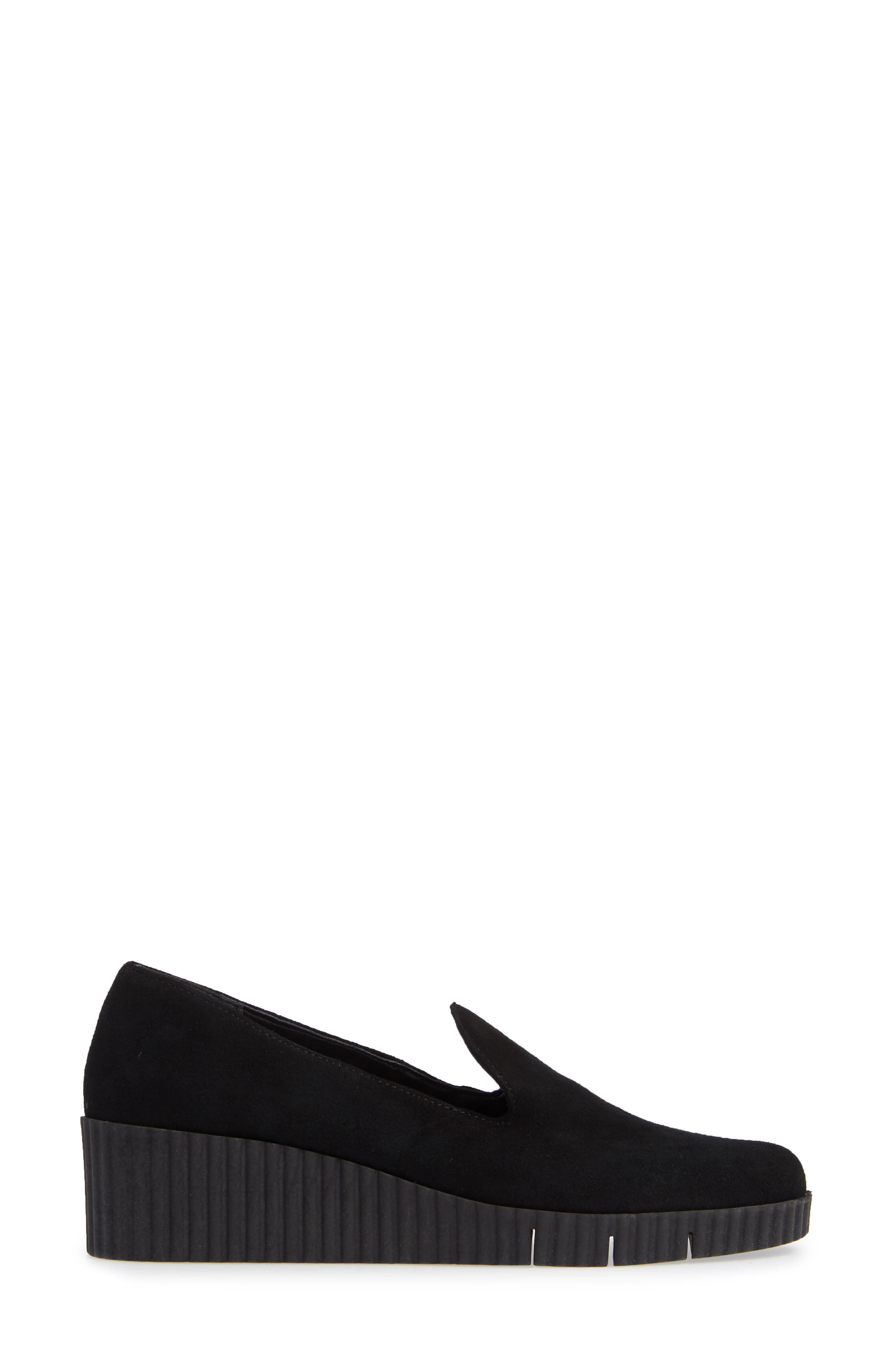 Fast Times Loafer,                             Alternate thumbnail 3, color,                             BLACK SUEDE