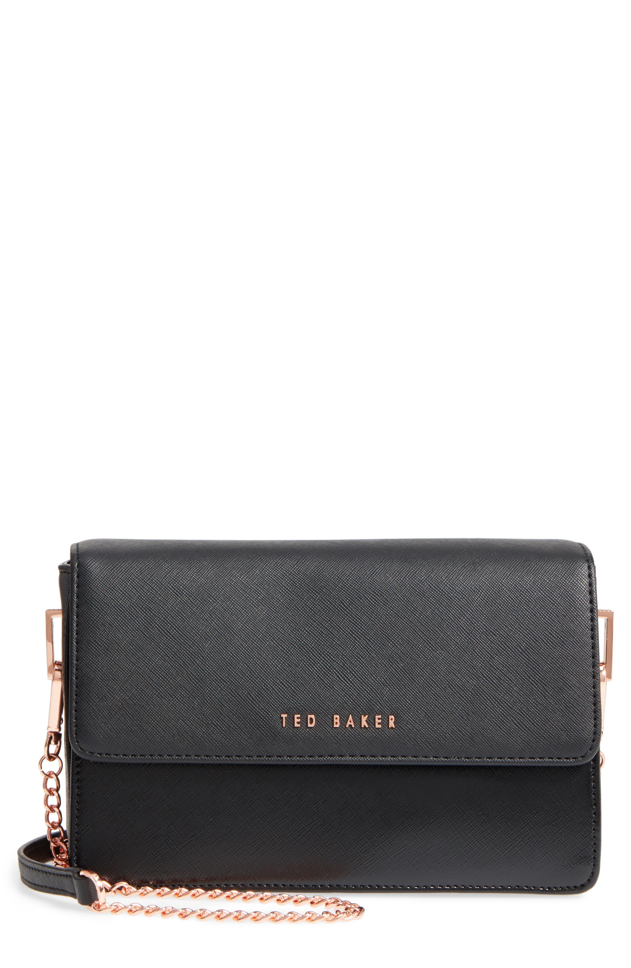 Heatha Faux Leather Crossbody Bag,                             Main thumbnail 1, color,                             001