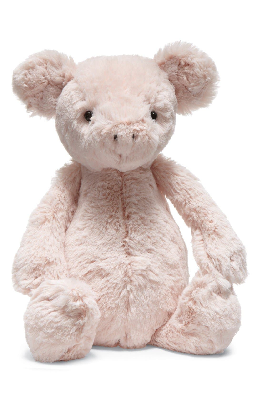 'Bashful Piggy' Stuffed Animal,                             Main thumbnail 1, color,                             PINK