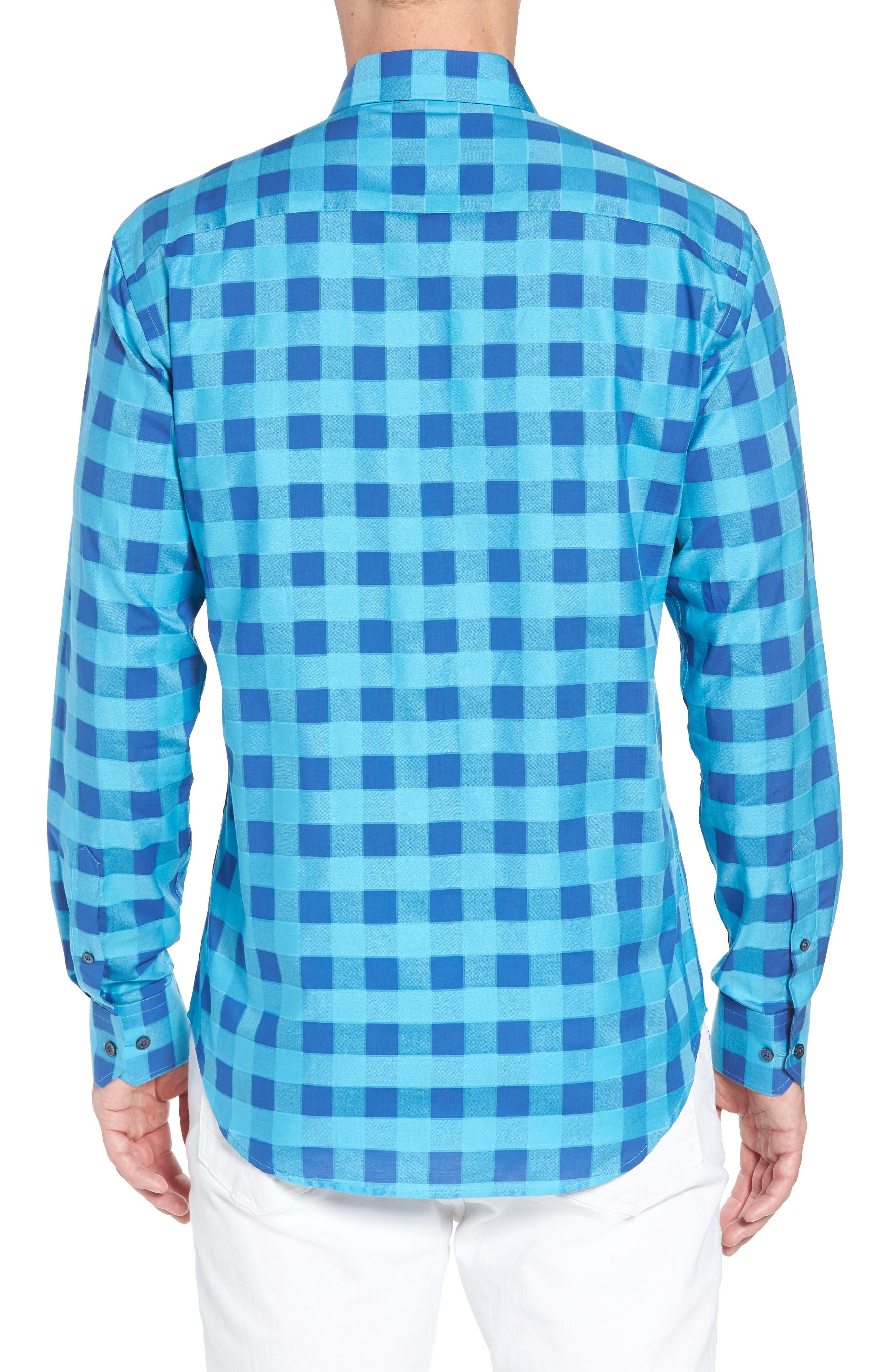 Shaped Fit Check Sport Shirt,                             Alternate thumbnail 2, color,                             425