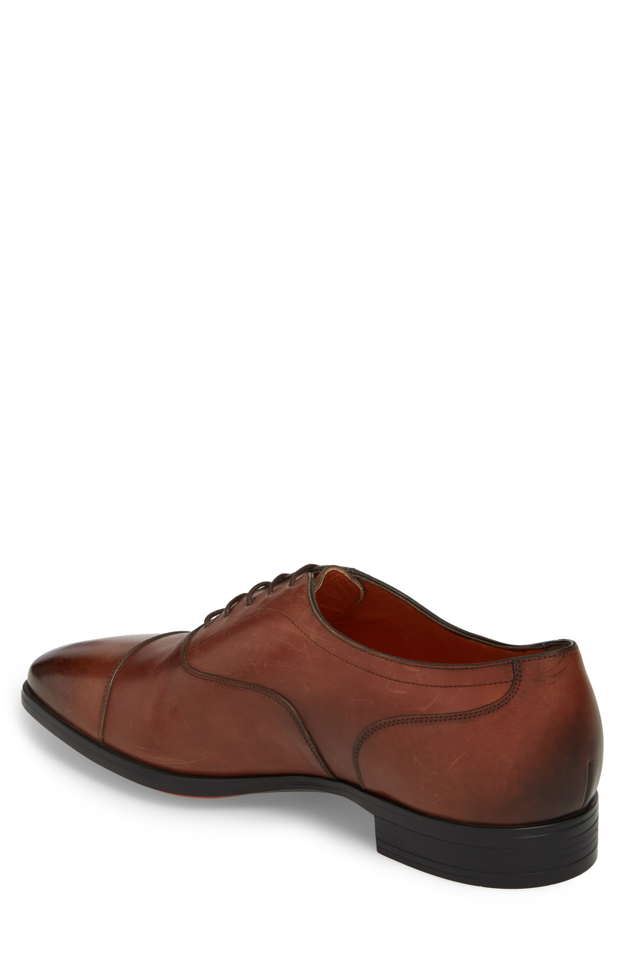 Eamon Cap Toe Oxford,                             Alternate thumbnail 2, color,                             BROWN