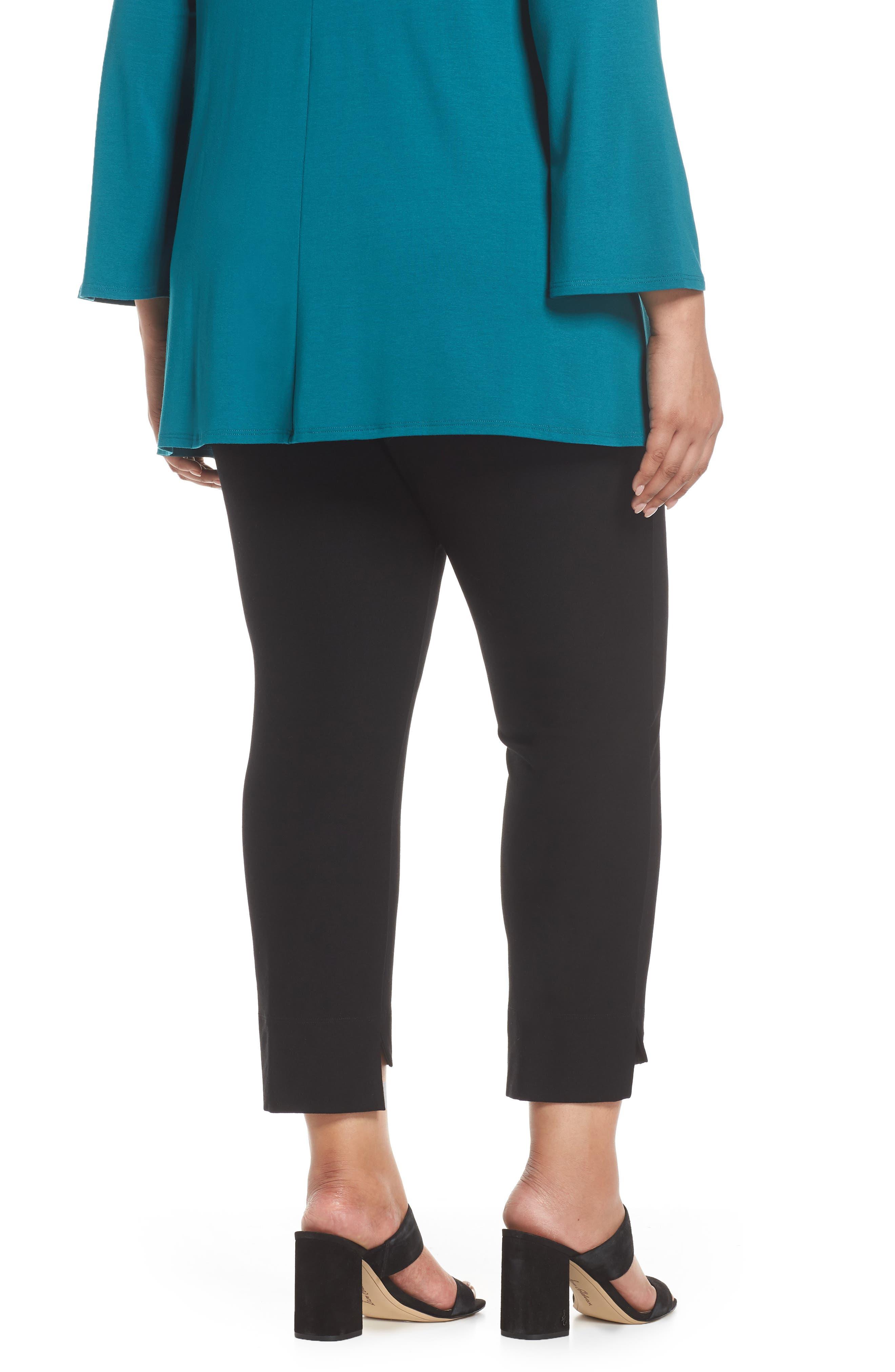 Slim Fit Crop Pants,                             Alternate thumbnail 2, color,                             BLACK