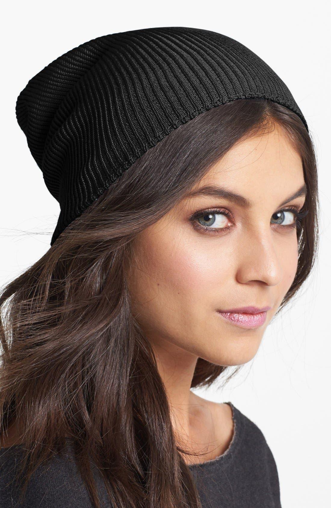'Seasonless' Slouchy Knit Cap, Main, color, 001