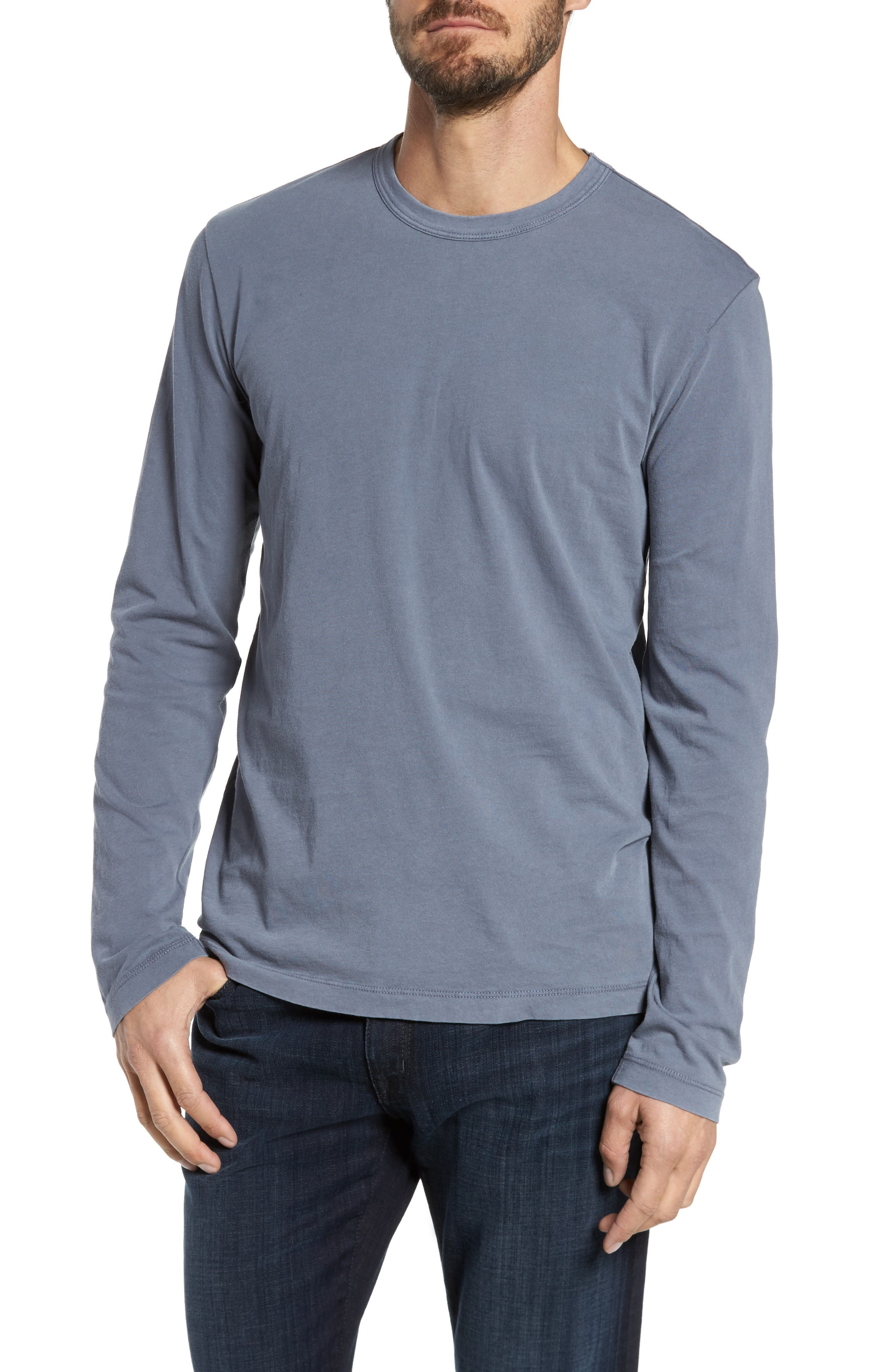 Long Sleeve Crewneck T-Shirt,                             Alternate thumbnail 2, color,                             NORTH PIGMENT GREY