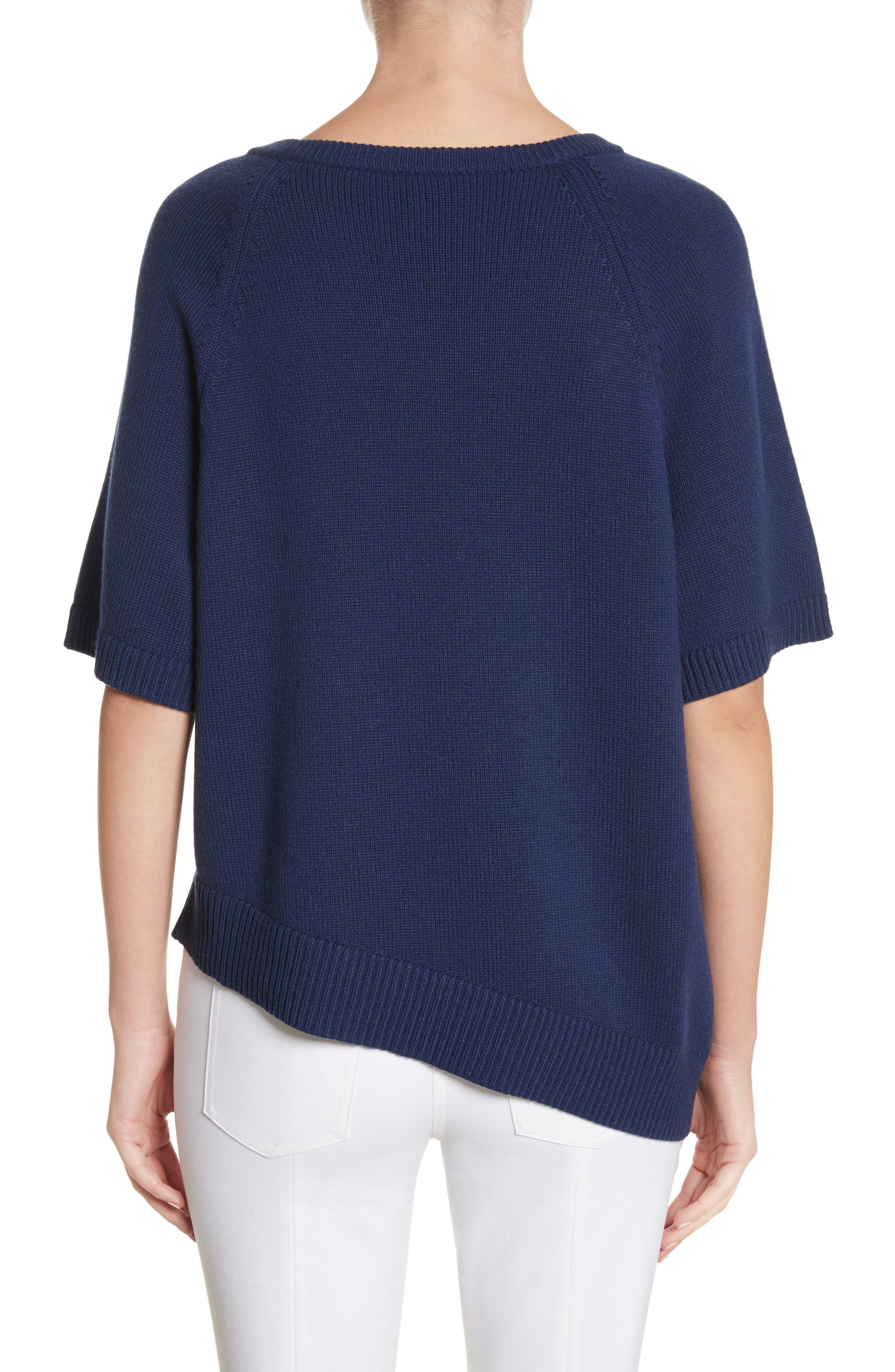 Asymmetrical Cashmere Pullover,                             Alternate thumbnail 2, color,                             489