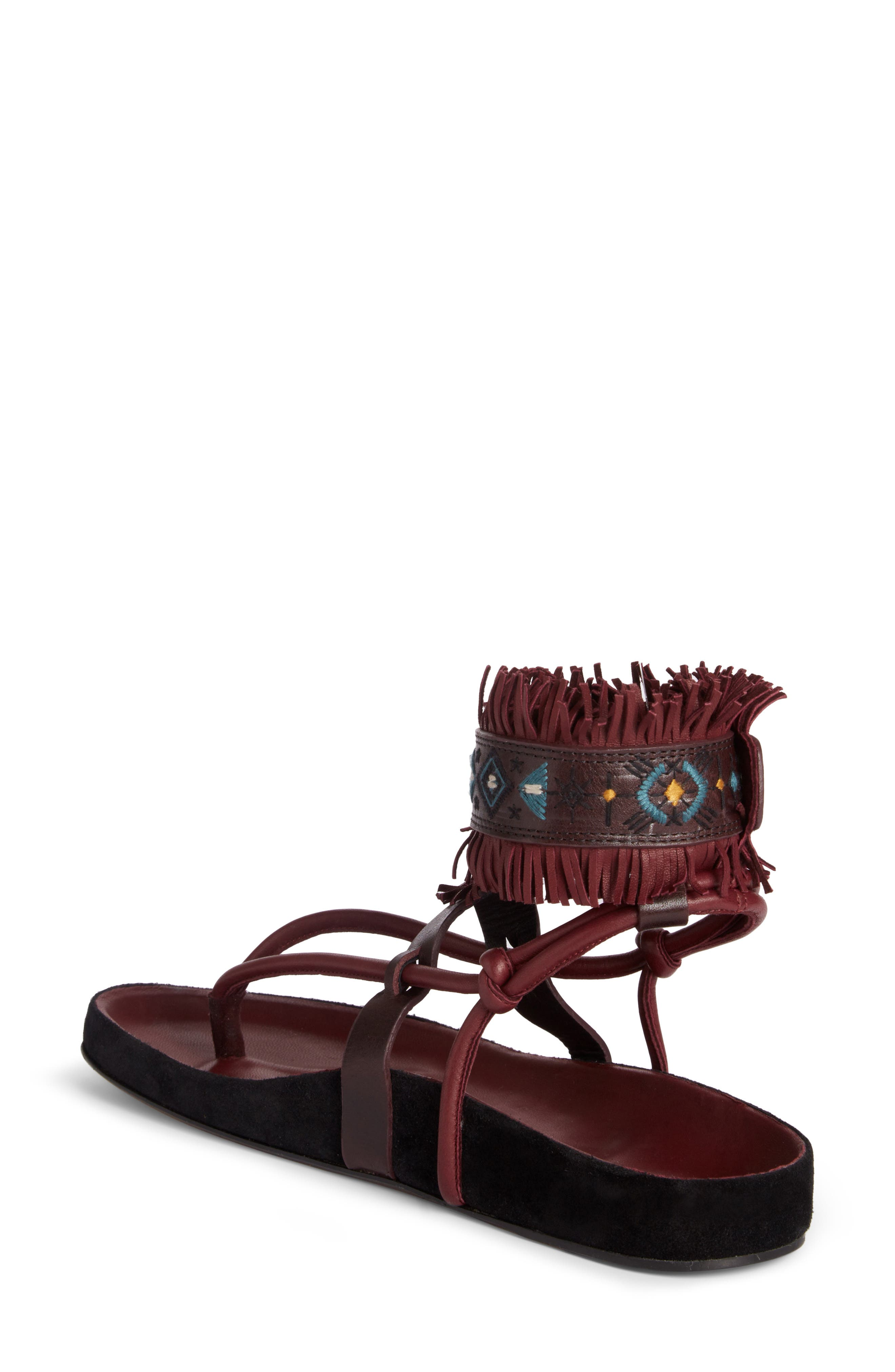 Eliby Fringe Thong Sandal,                             Alternate thumbnail 2, color,                             930