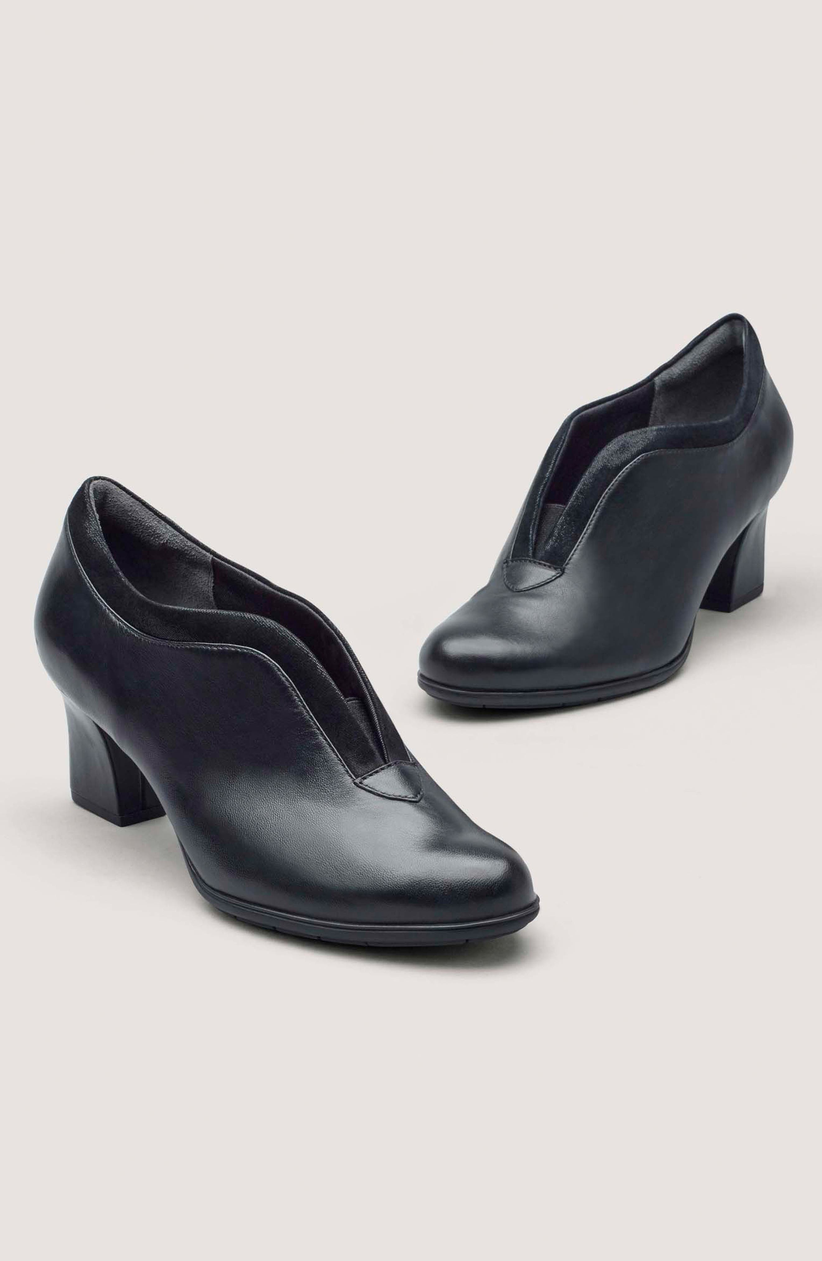 Esty Luxe Pump,                             Alternate thumbnail 7, color,                             BLACK LEATHER