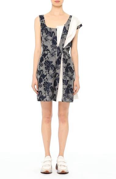 Pleated Floral Jacquard Dress, video thumbnail
