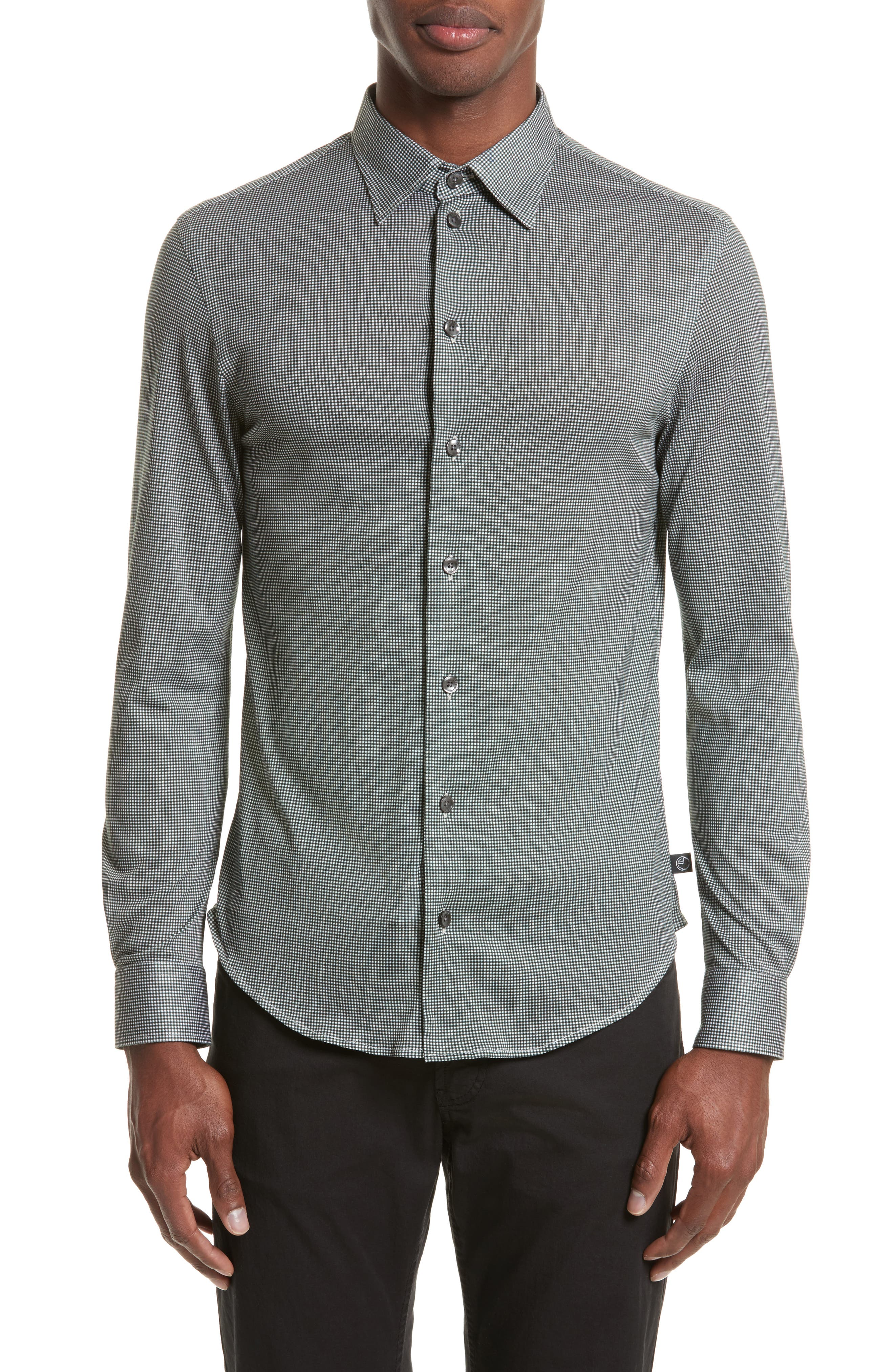 Gingham Sport Shirt,                         Main,                         color, 389