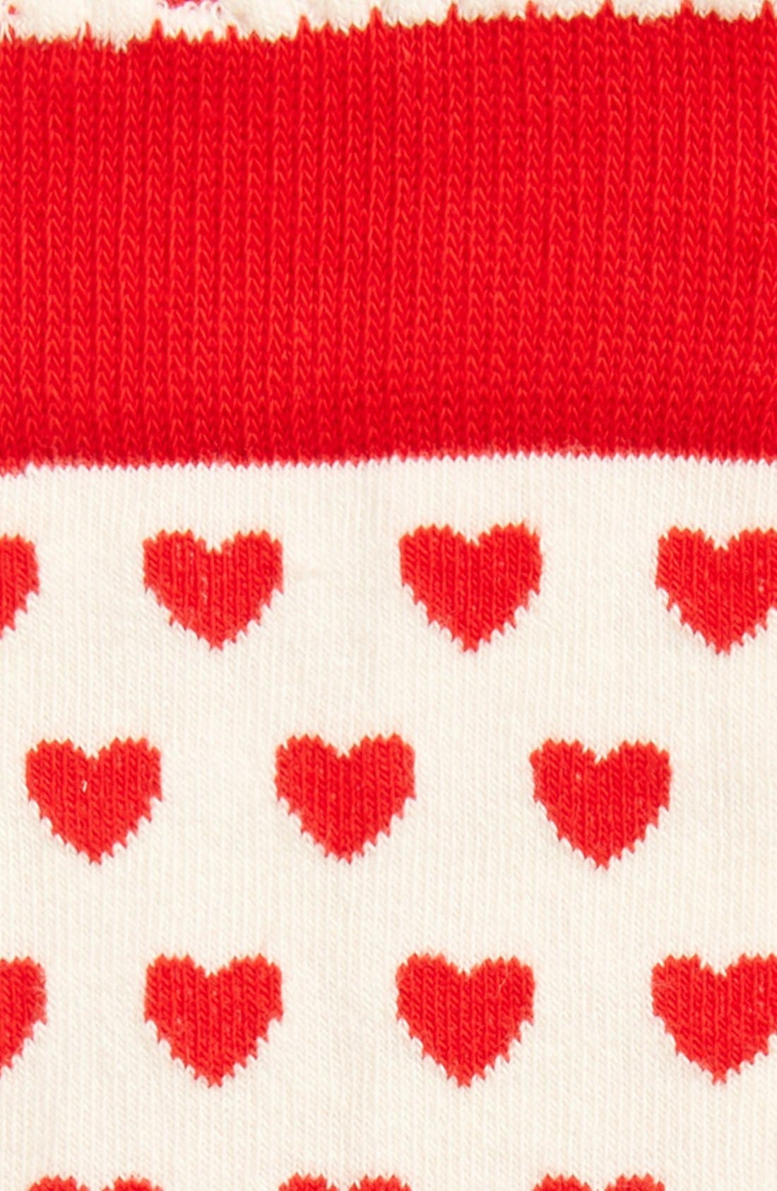 'Rudolph the Red Nosed Reindeer & Hearts' Knee High Socks,                             Alternate thumbnail 2, color,                             100