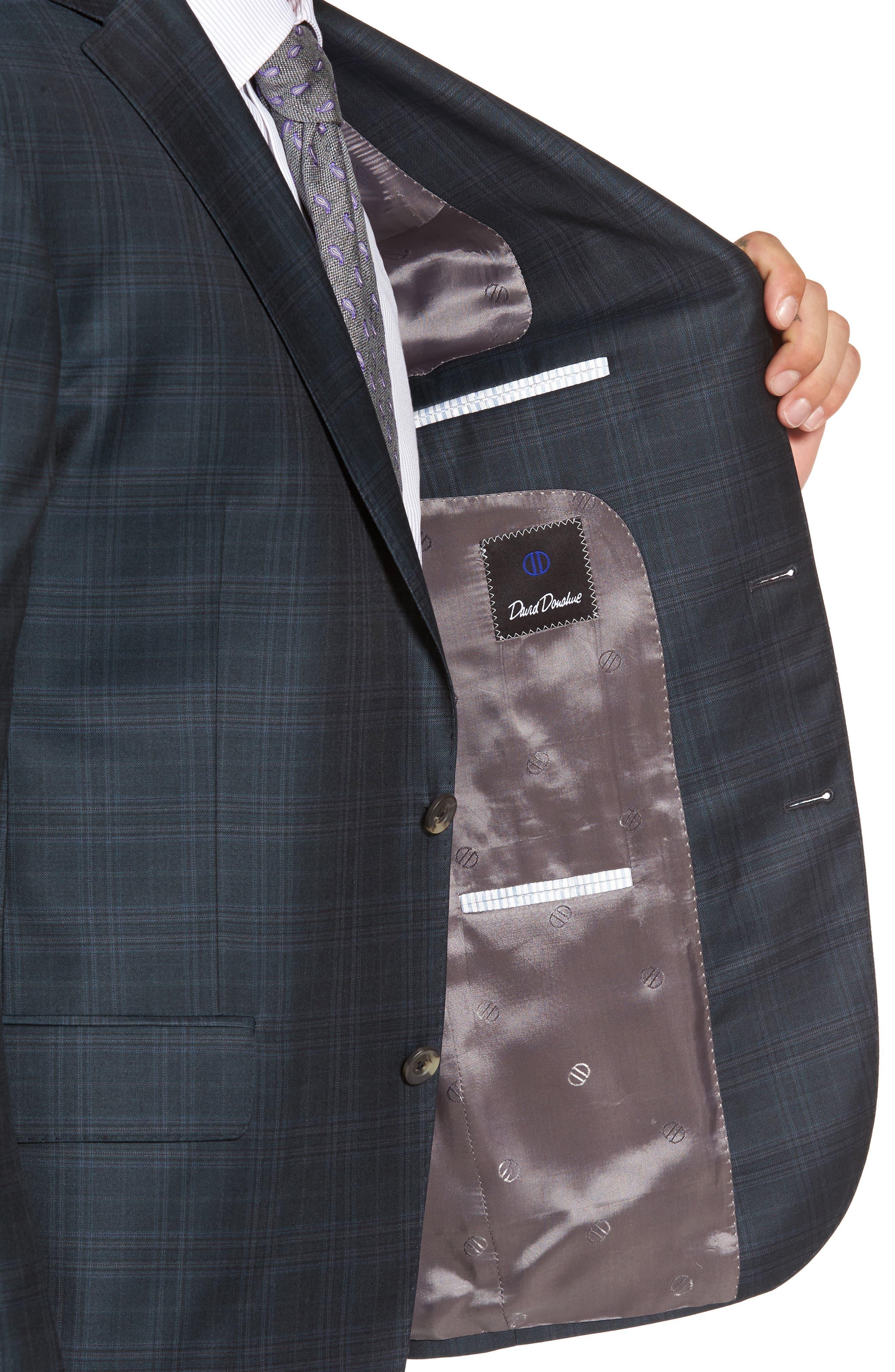Connor Classic Fit Plaid Wool Sport Coat,                             Alternate thumbnail 4, color,                             310