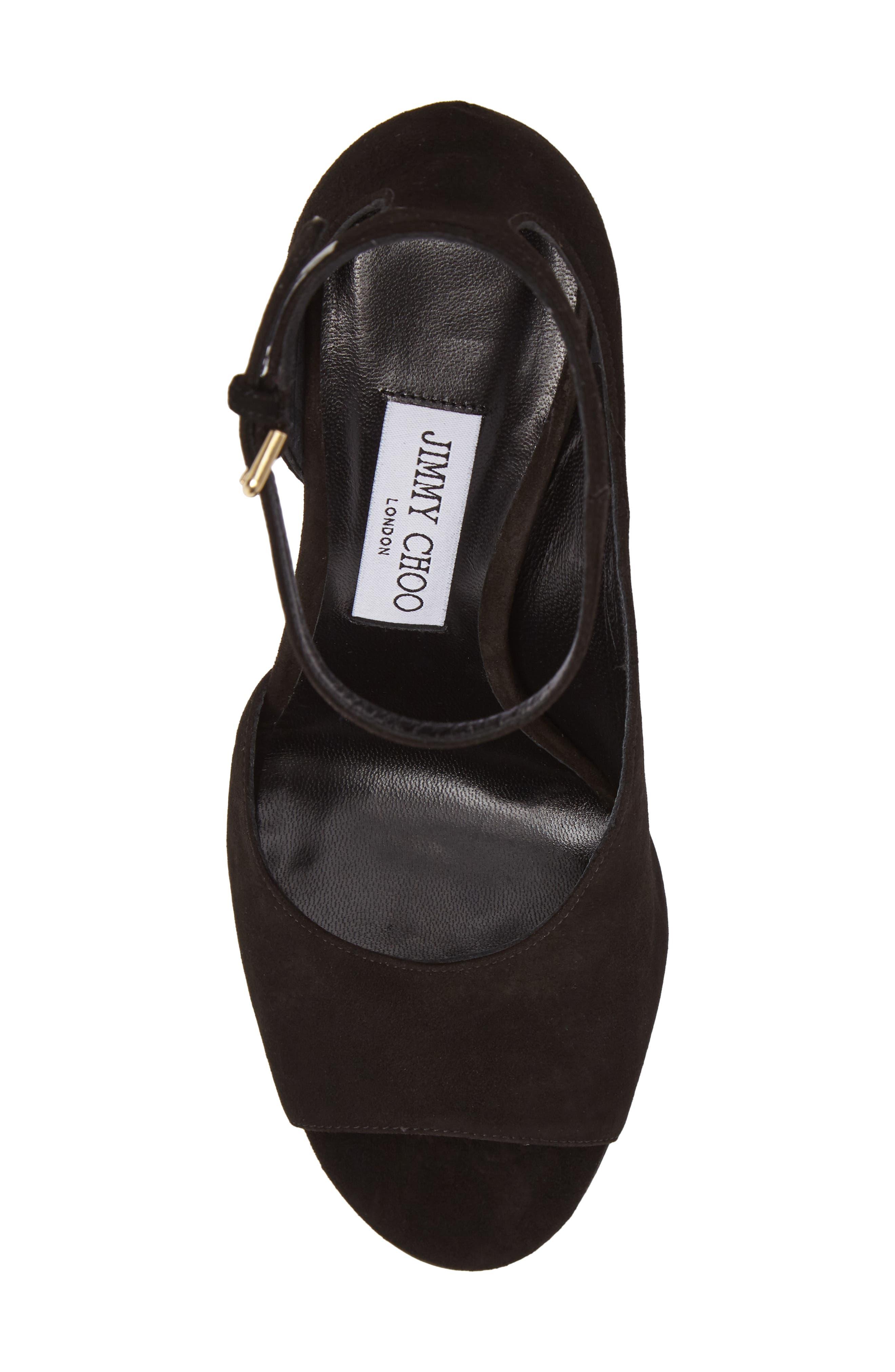 Theresa Ankle Strap Sandal,                             Alternate thumbnail 5, color,                             001