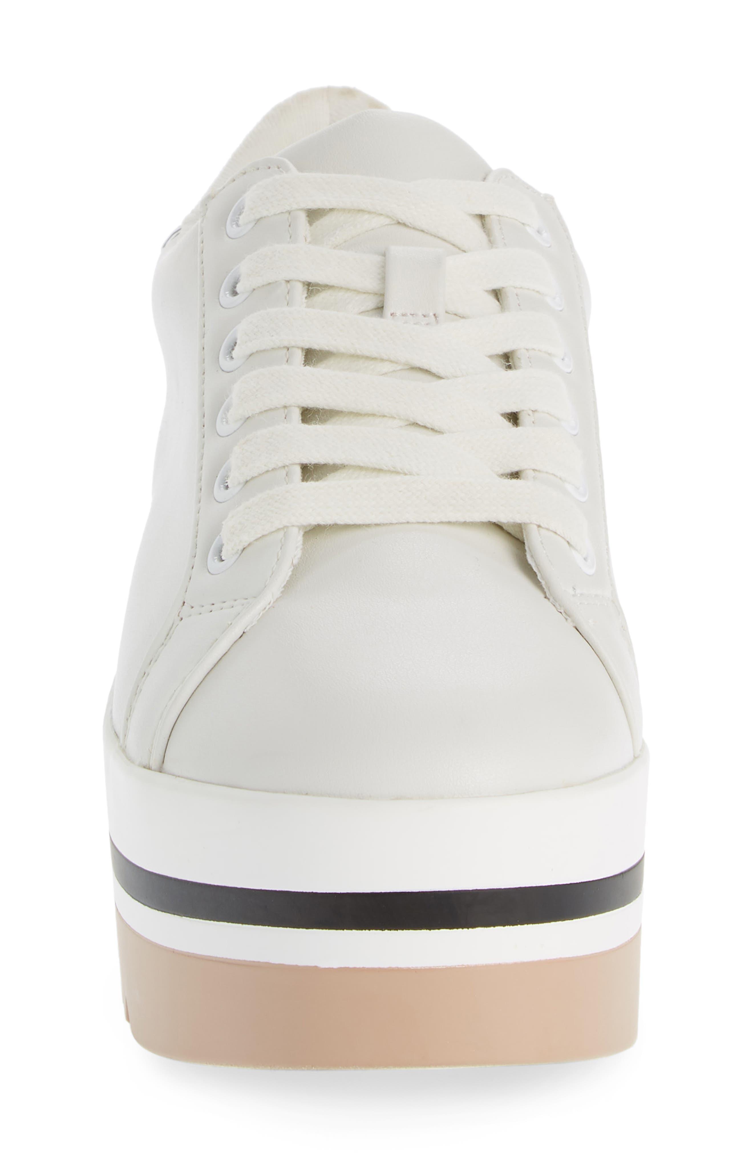 Alley Platform Sneaker,                             Alternate thumbnail 4, color,                             WHITE