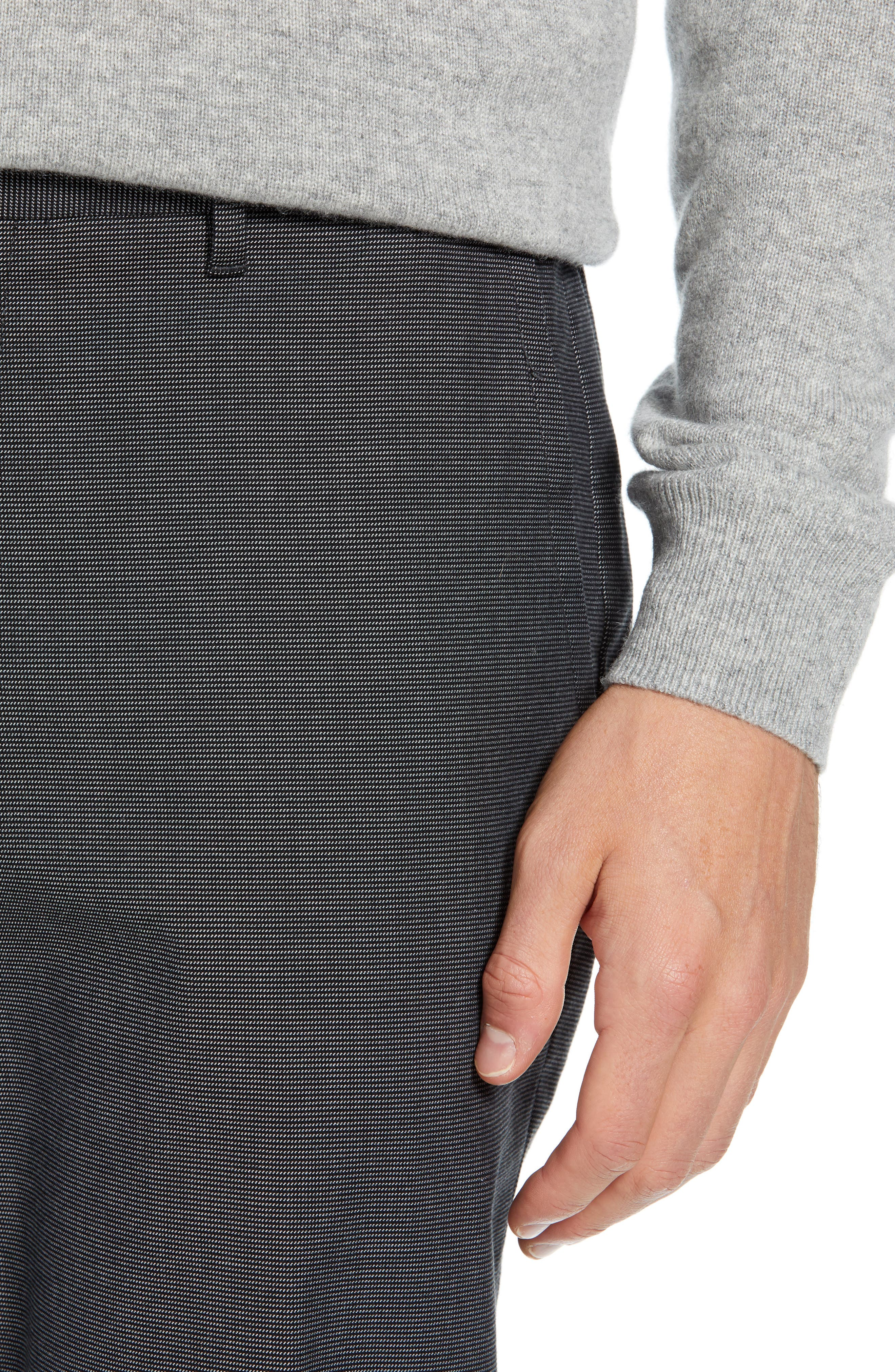 Weekday Warrior Straight Leg Stretch Dress Pants,                             Alternate thumbnail 4, color,                             TUESDAY CHARCOAL