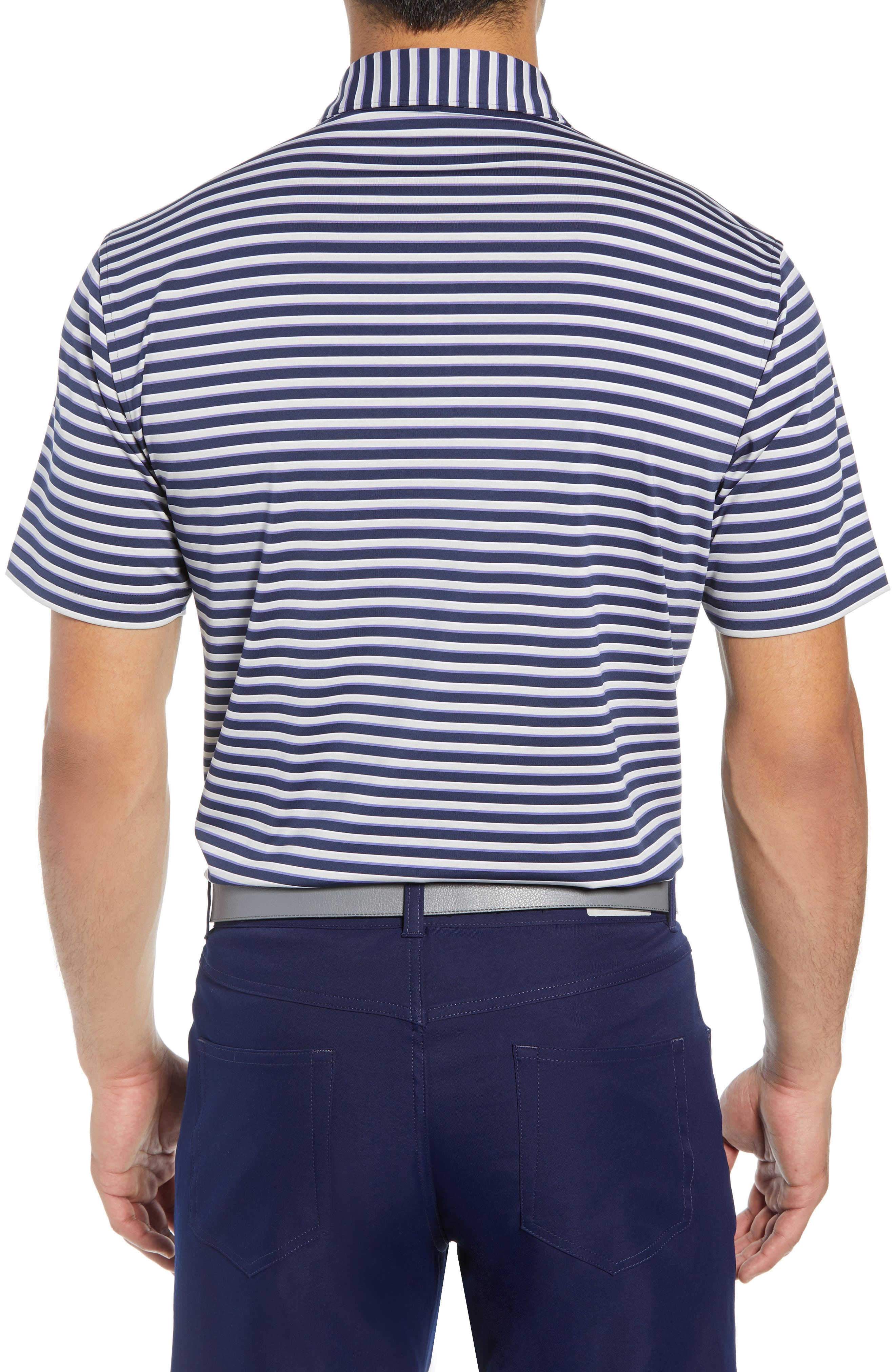 Camelot Stripe Stretch Jersey Polo,                             Alternate thumbnail 2, color,                             410