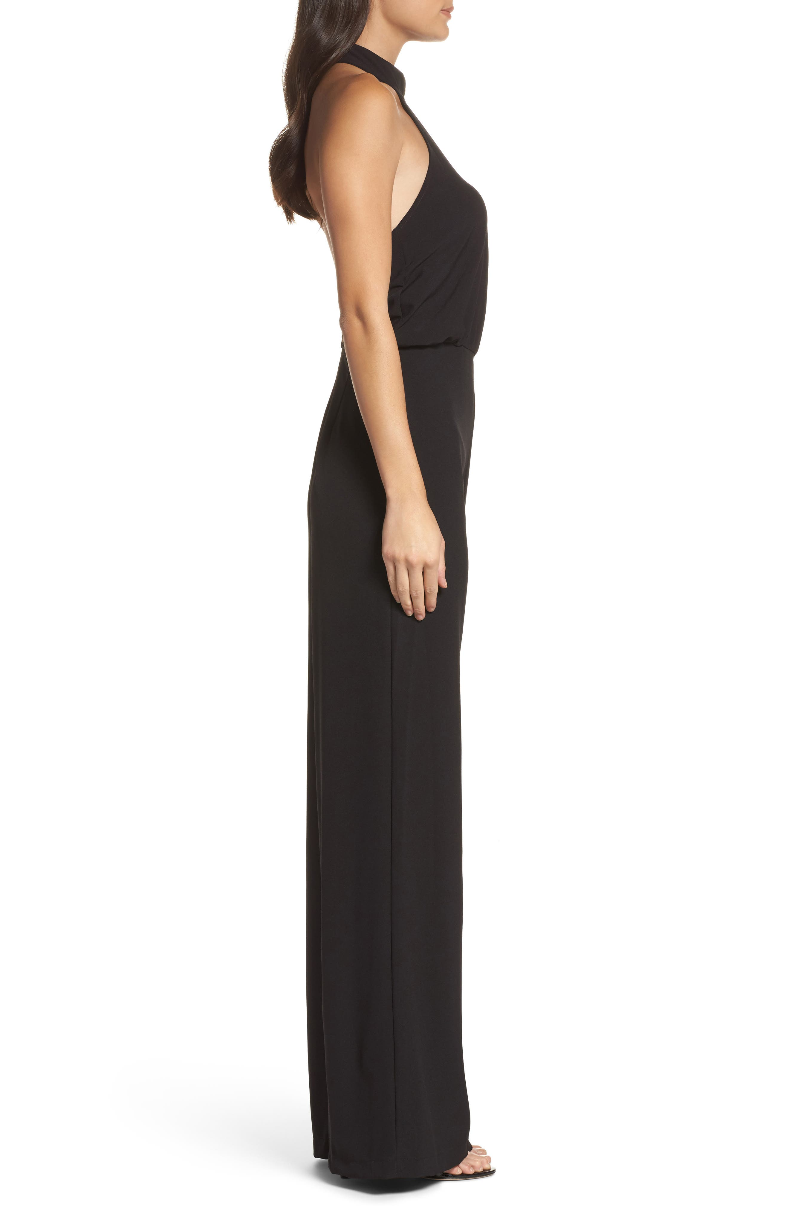 Moment for Life Halter Jumpsuit,                             Alternate thumbnail 3, color,                             BLACK