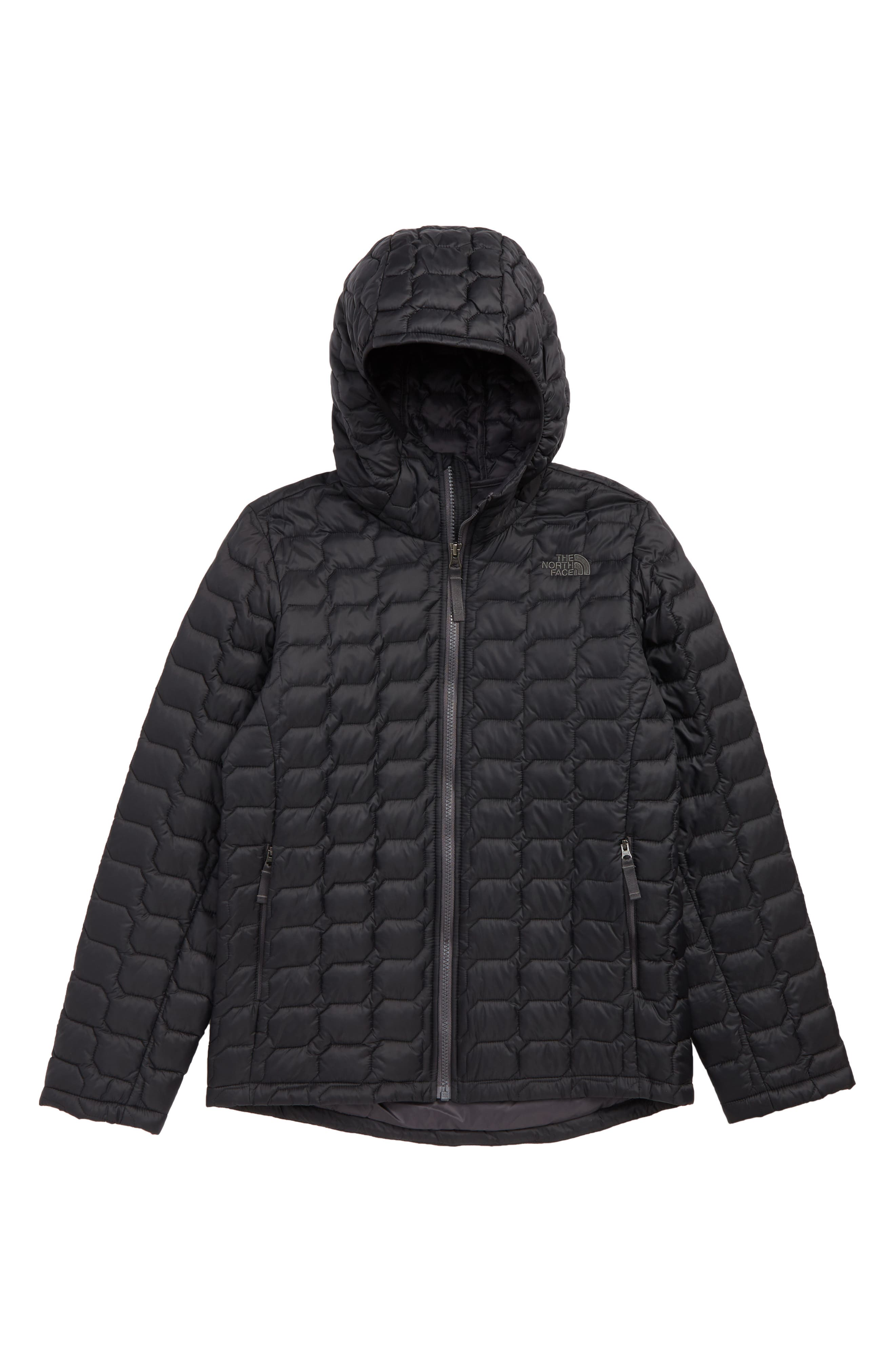 ThermoBall<sup>™</sup> PrimaLoft<sup>®</sup> Hooded Jacket,                             Main thumbnail 1, color,                             TNF BLACK/ BLACK