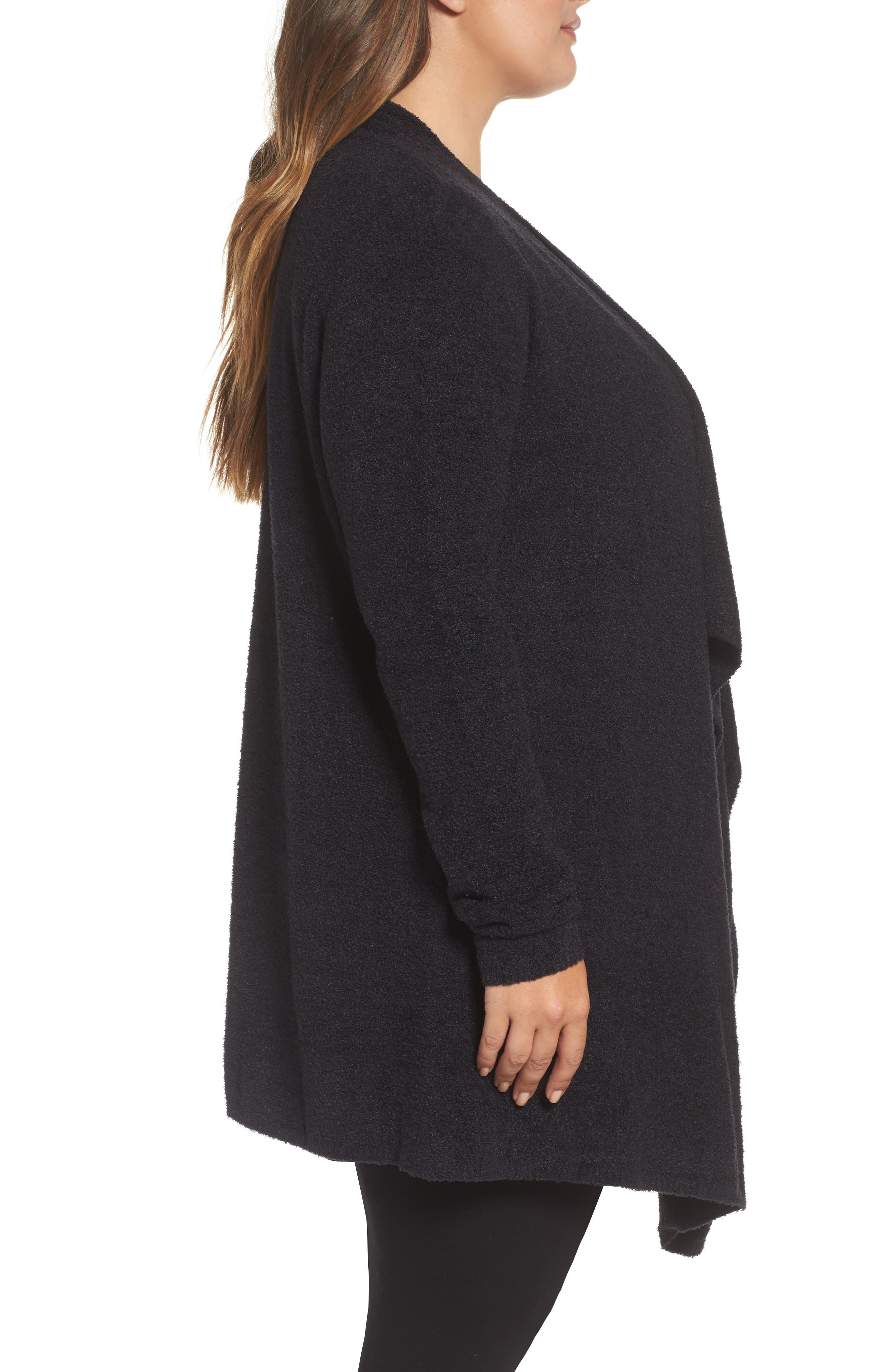 CozyChic Lite<sup>®</sup> Calypso Wrap Cardigan,                             Alternate thumbnail 3, color,                             001