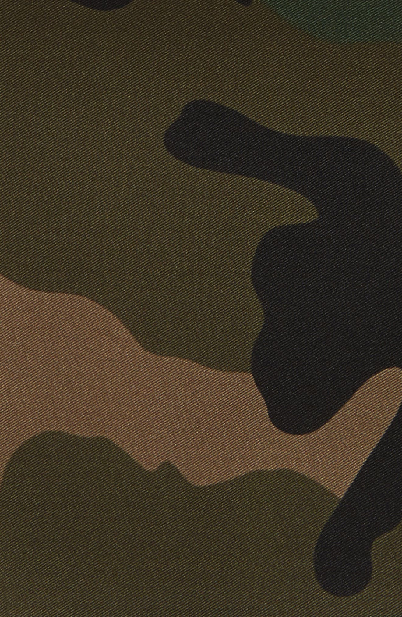 Camo Silk Pocket Square,                             Alternate thumbnail 6, color,