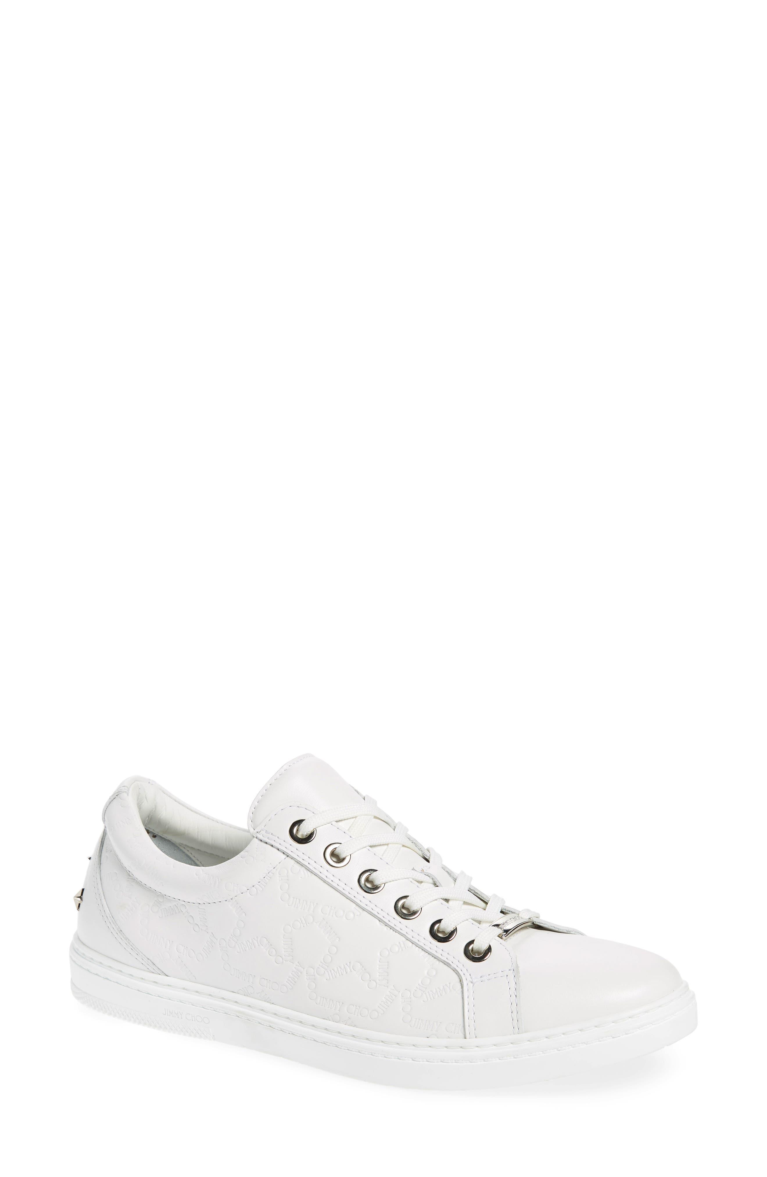 JIMMY CHOO,                             Cash Star Sneaker,                             Main thumbnail 1, color,                             WHITE