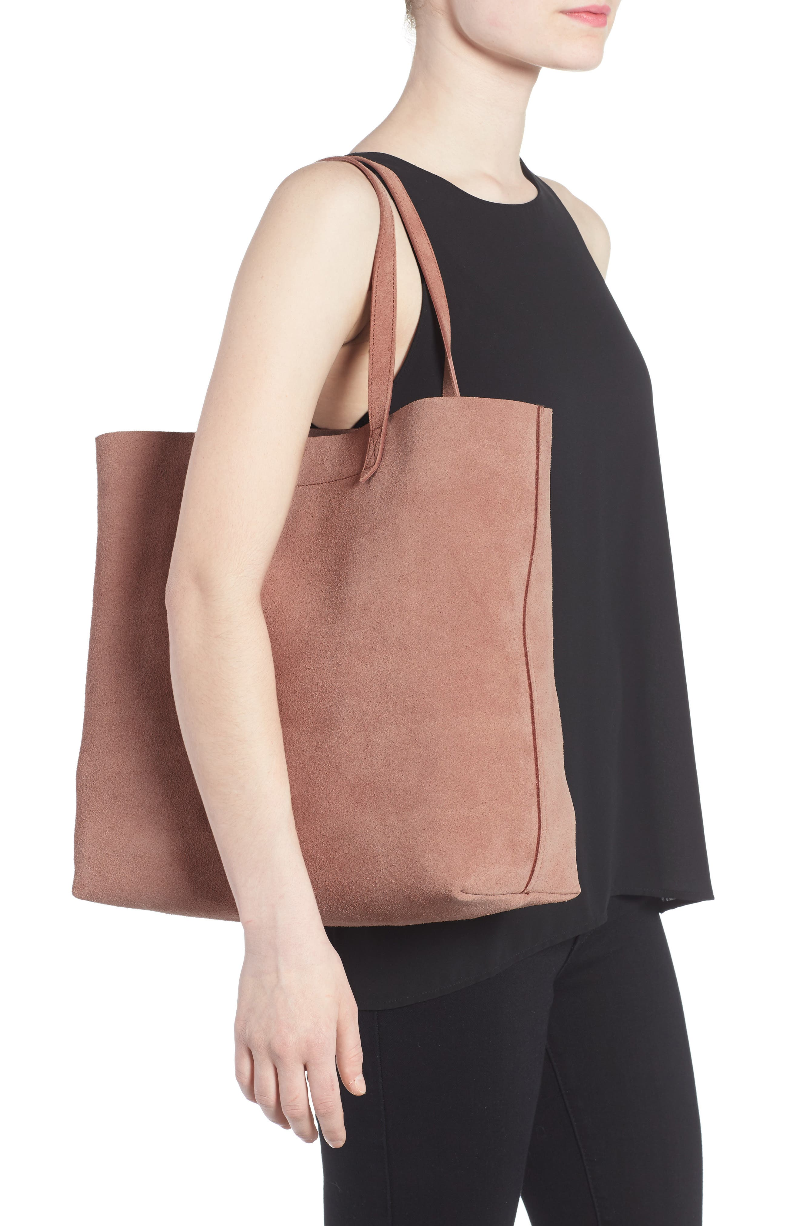 Suede Transport Tote,                             Alternate thumbnail 2, color,                             250