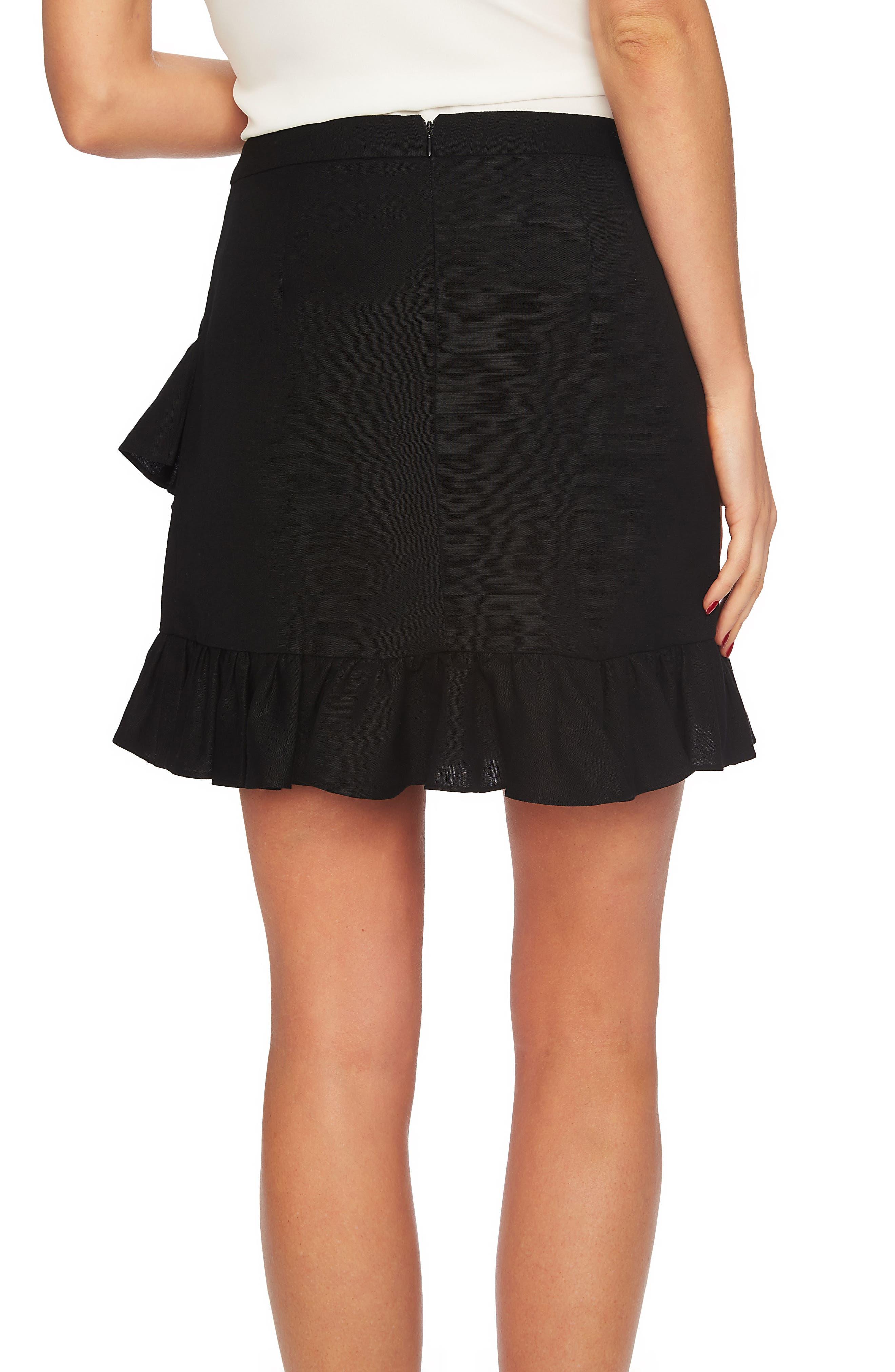 Ruffle Miniskirt,                             Alternate thumbnail 2, color,