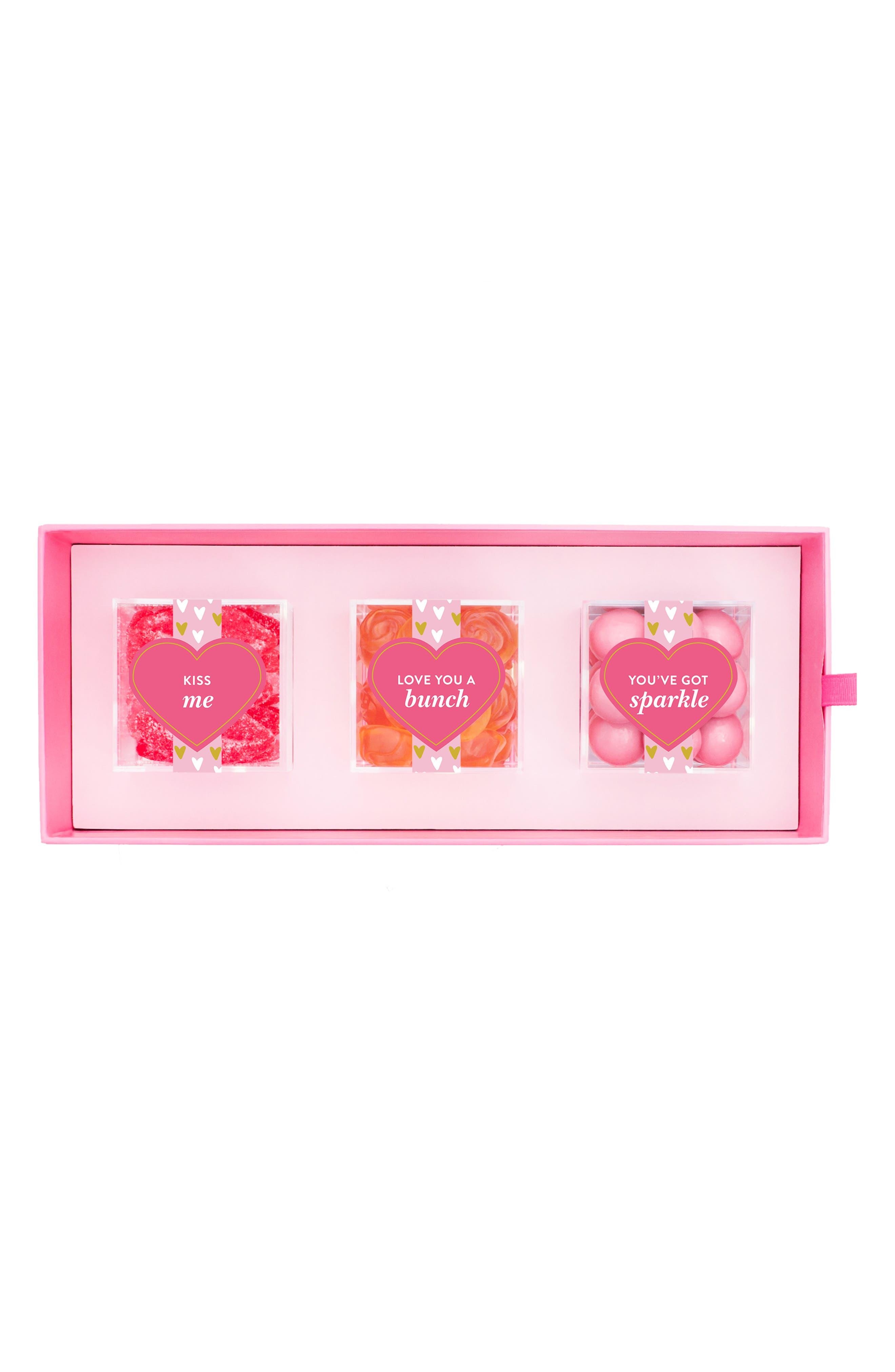 XOXO 3-Piece Candy Bento Box,                             Alternate thumbnail 4, color,                             PINK