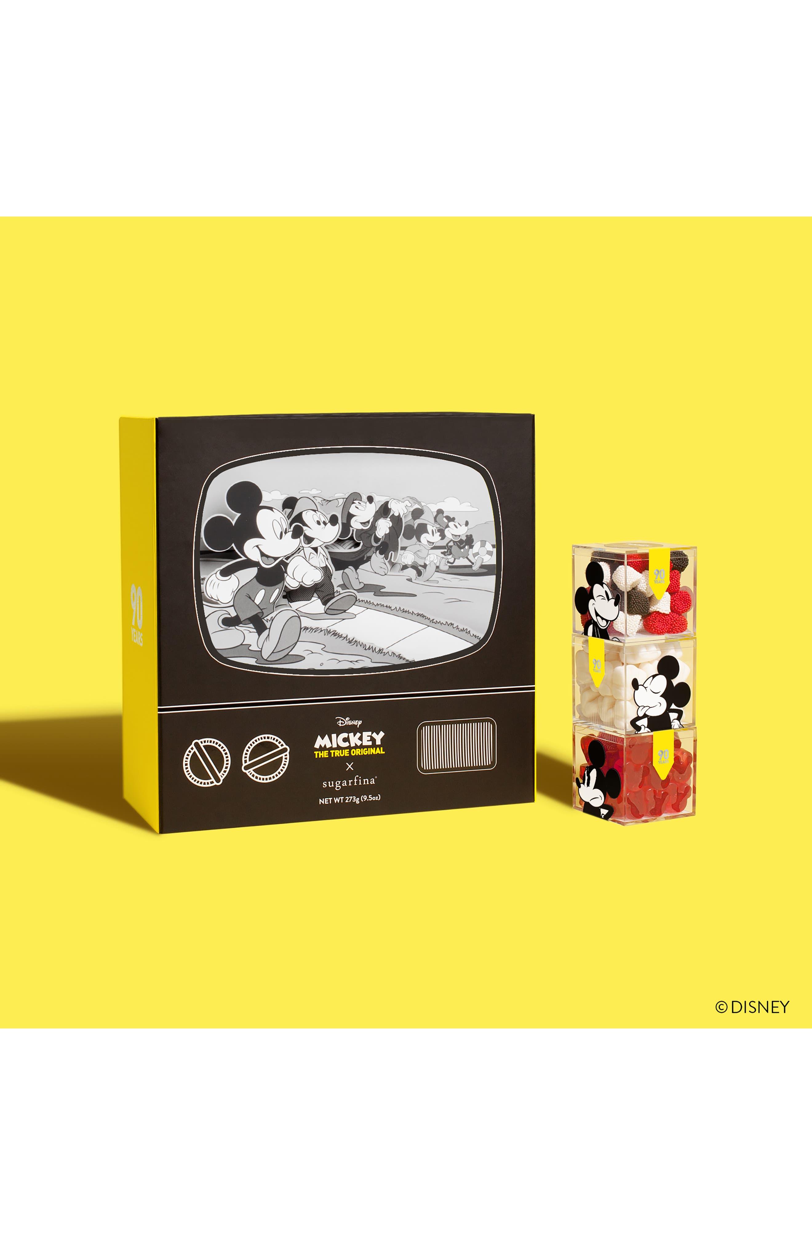 SUGARFINA,                             Mickey through the Decades 3-Piece Candy Bento Box,                             Alternate thumbnail 9, color,                             BLACK