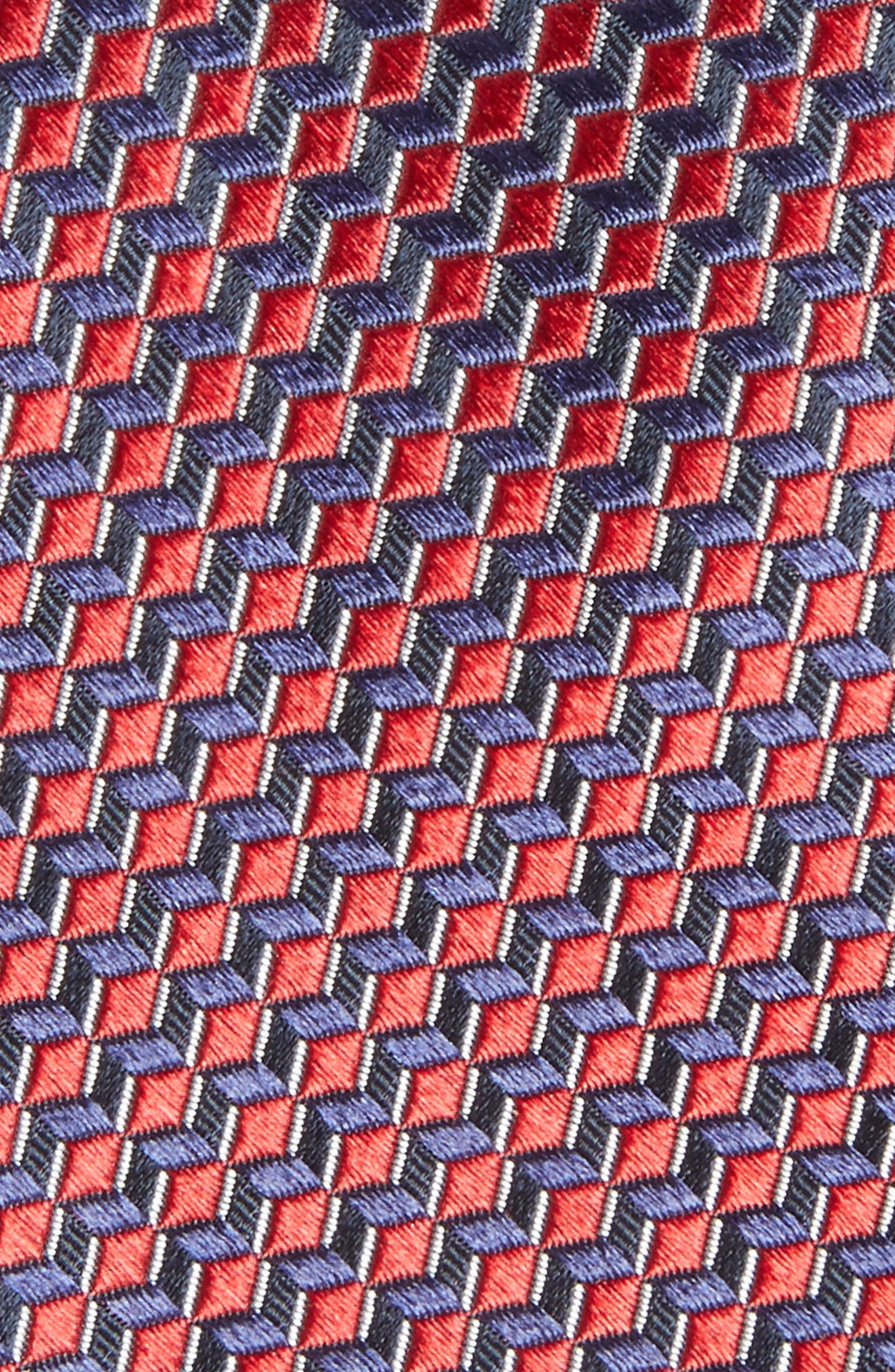 Doria Geometric Silk Tie,                             Alternate thumbnail 7, color,