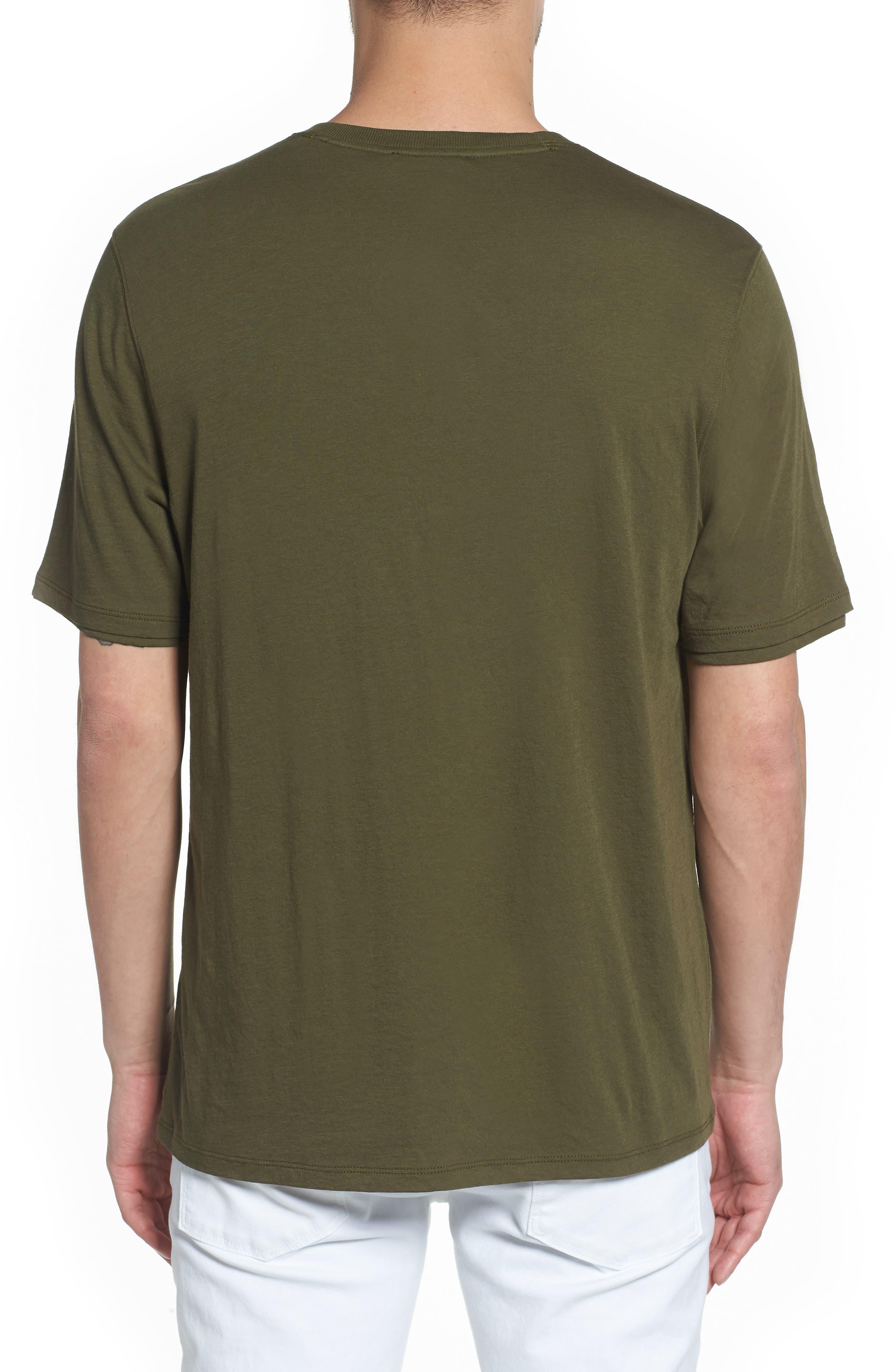 Layered Henley T-Shirt,                             Alternate thumbnail 2, color,                             FOLIAGE