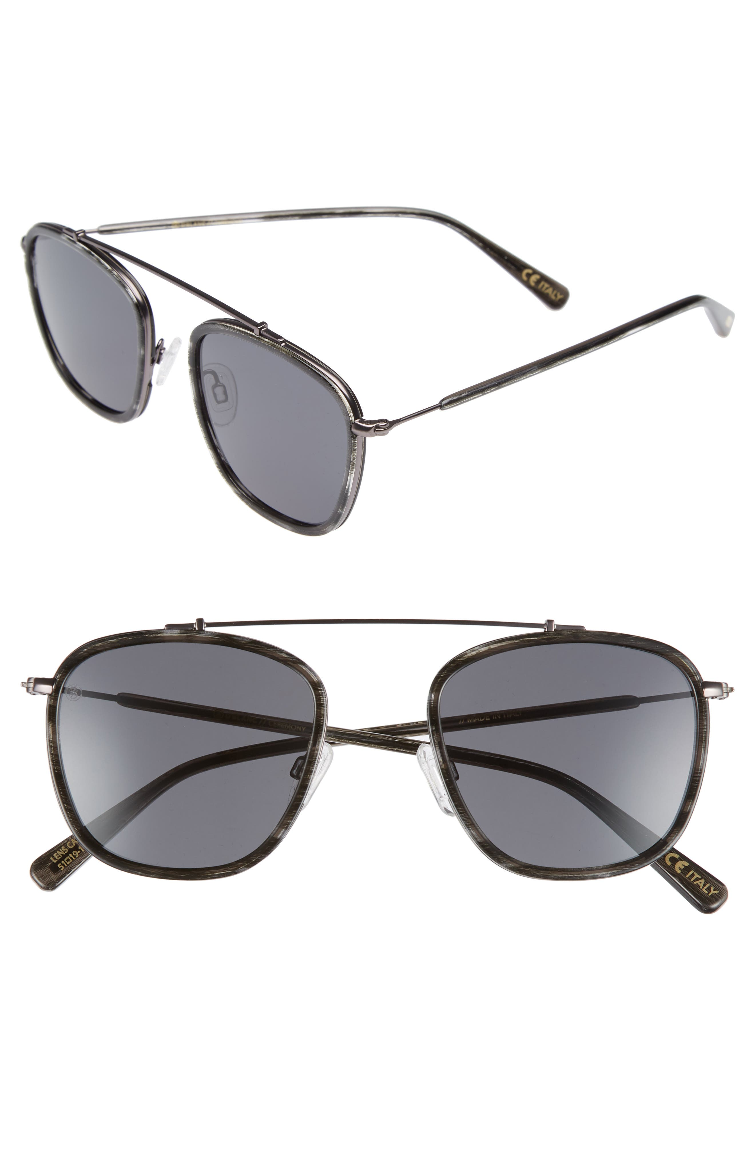 D'BLANC Ceremony 51mm Square Sunglasses,                         Main,                         color, 001