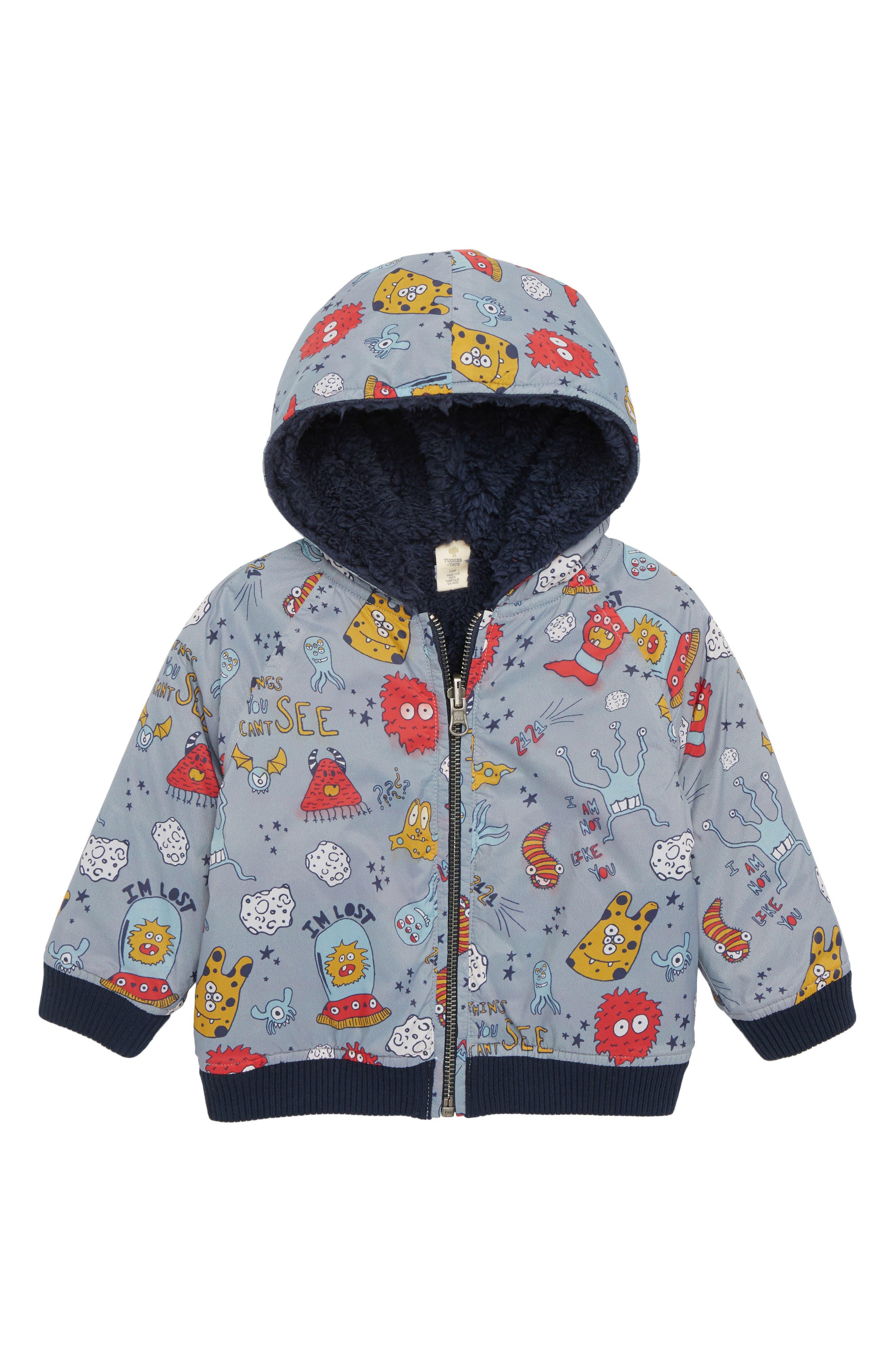 Reversible Hooded Jacket,                             Main thumbnail 1, color,                             050
